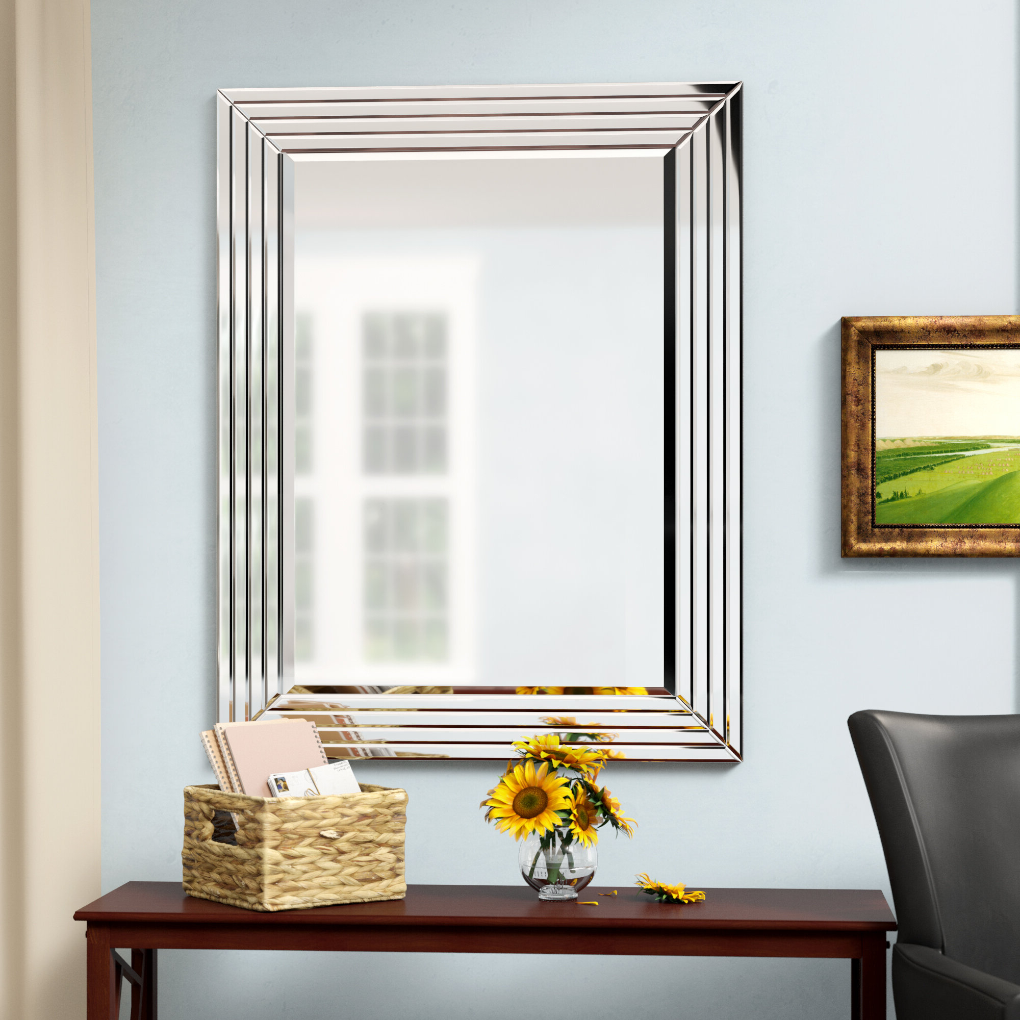 Fashionable Dedrick Decorative Framed Modern And Contemporary Wall Mirrors With Regard To Wall Mirror (View 9 of 20)