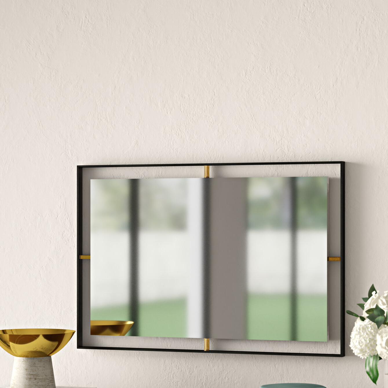 Fashionable Derick Accent Mirrors Pertaining To Wolbert Industrial Rectangle Accent Mirror (View 7 of 20)