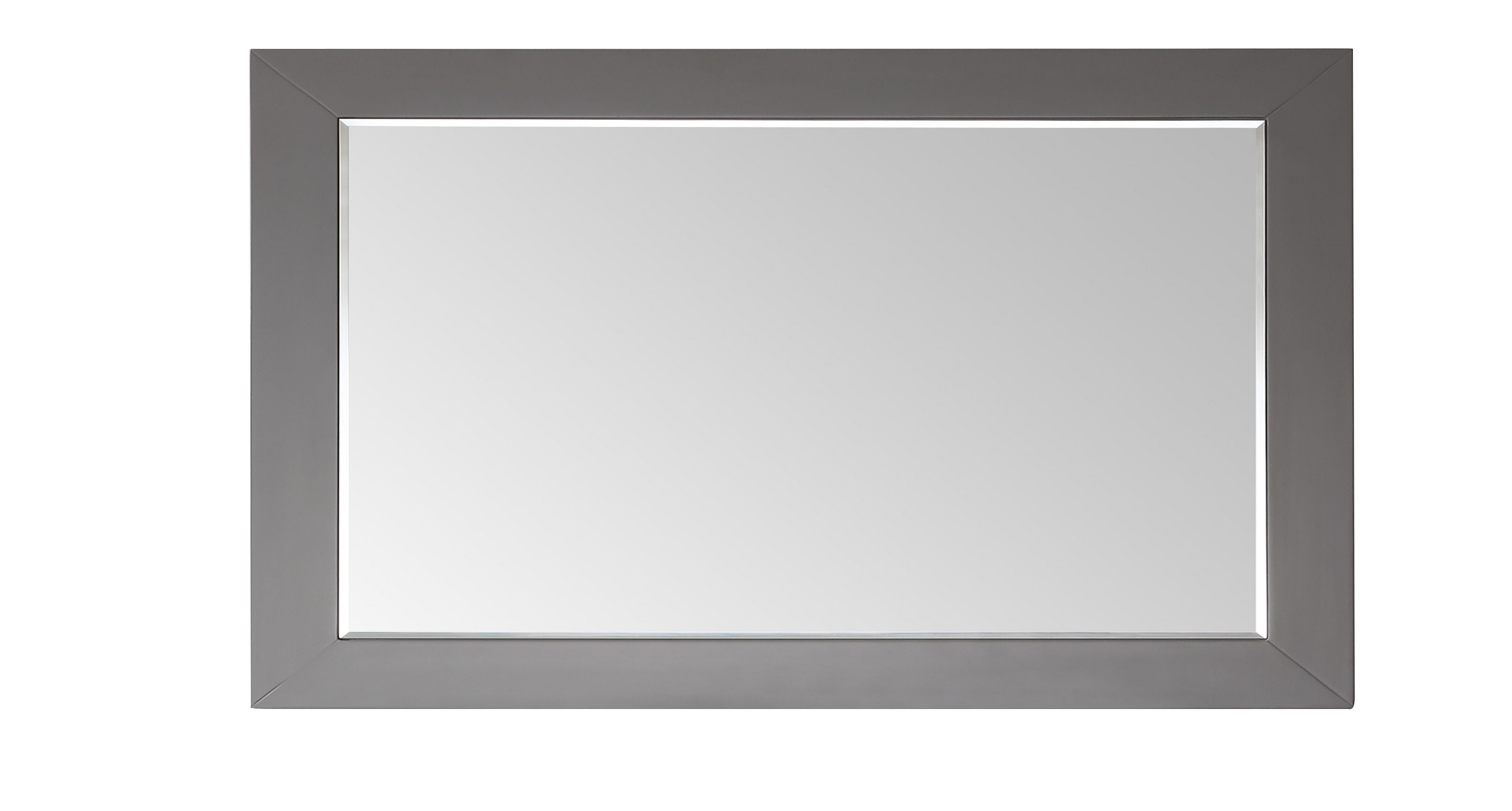 "Fashionable Eviva Aberdeen 60"" Grey Framed Bathroom Wall Mirror In White Framed Wall Mirrors (Gallery 14 of 20)"