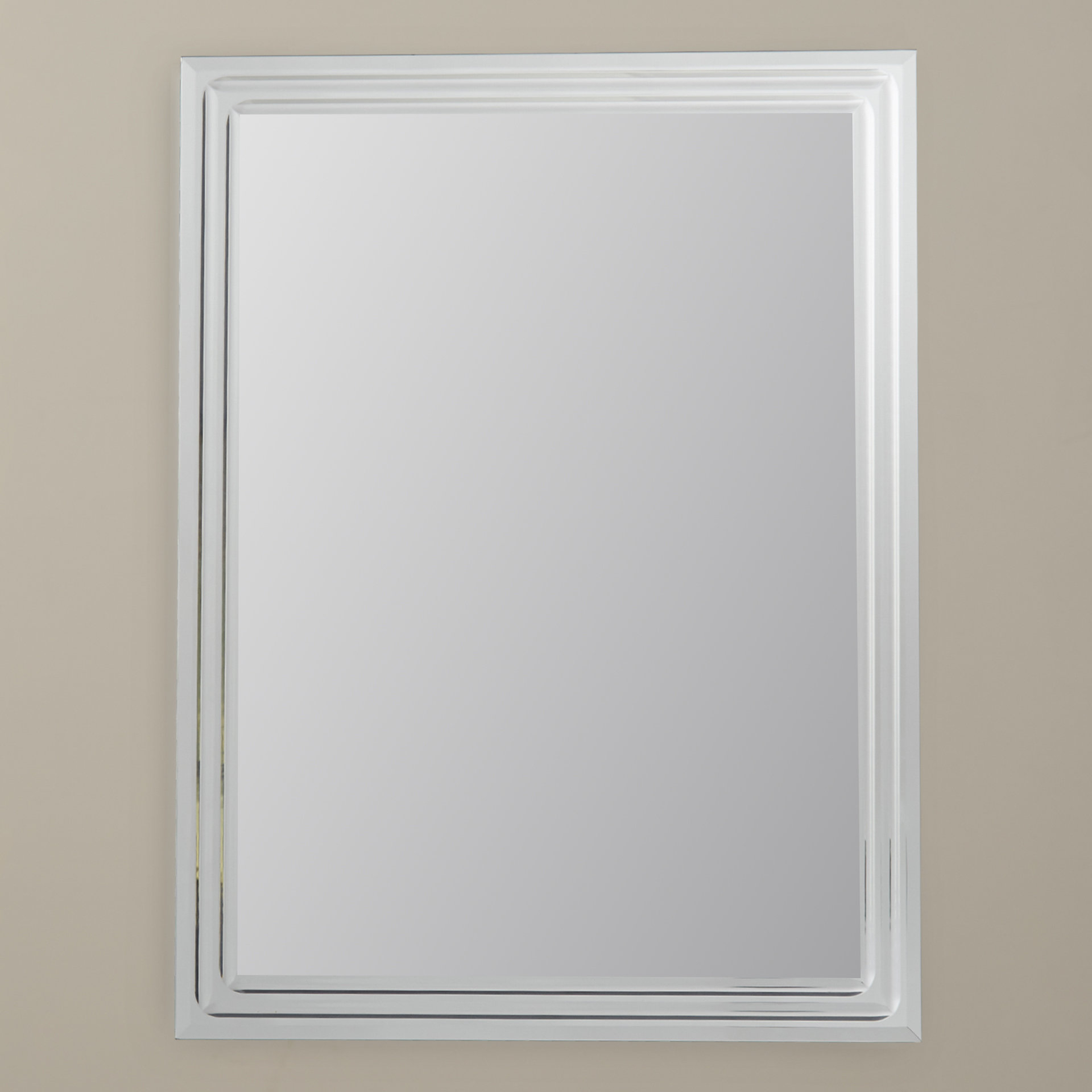 Fashionable Frameless Beveled Wall Mirrors Regarding Tetbury Frameless Tri Bevel Wall Mirror (View 15 of 20)