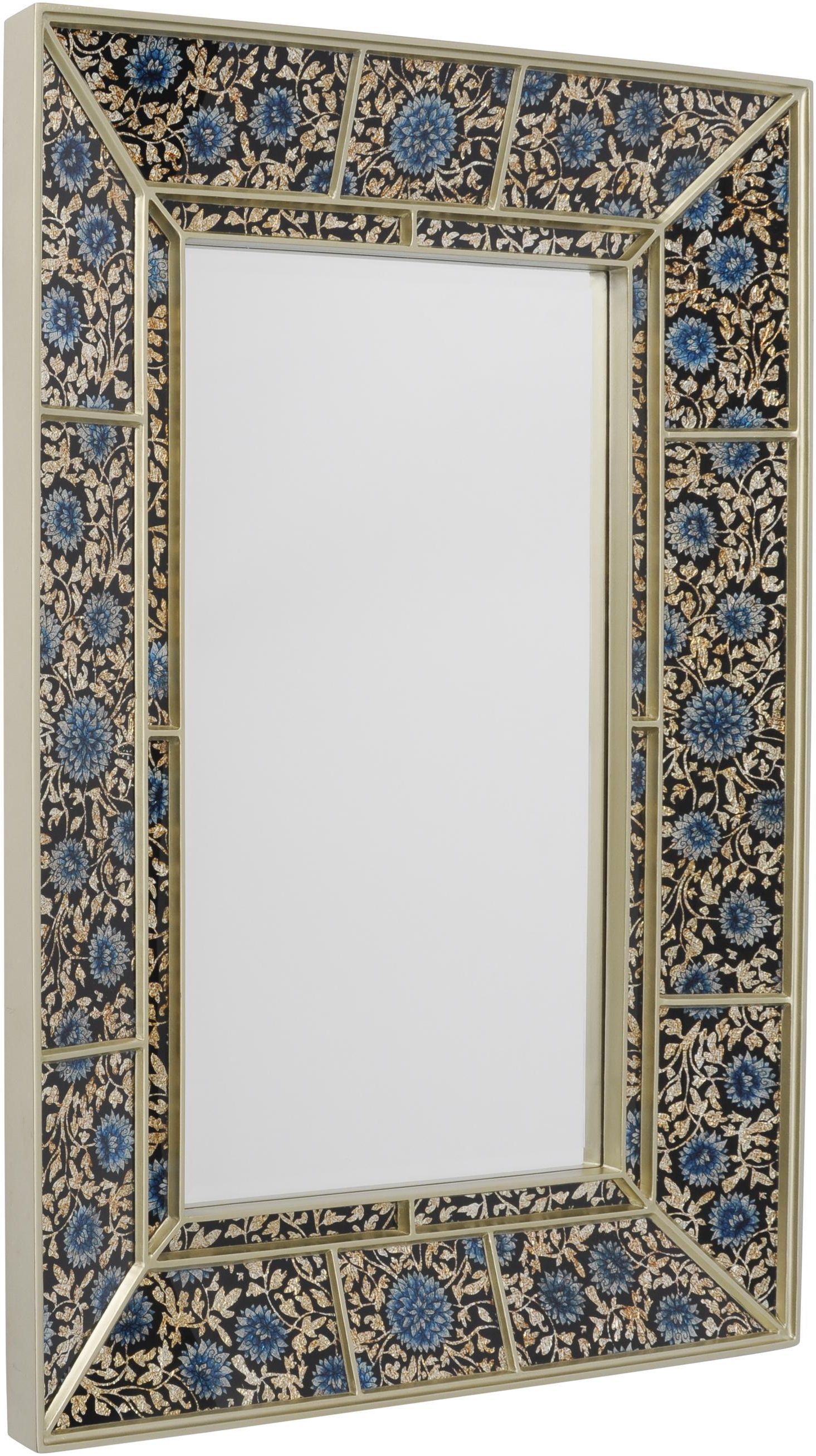 Fashionable Hand Painted Wall Mirrors Within Dahlia Small Mirror With Hand Painted Glass Frame (337826)libra (View 6 of 20)
