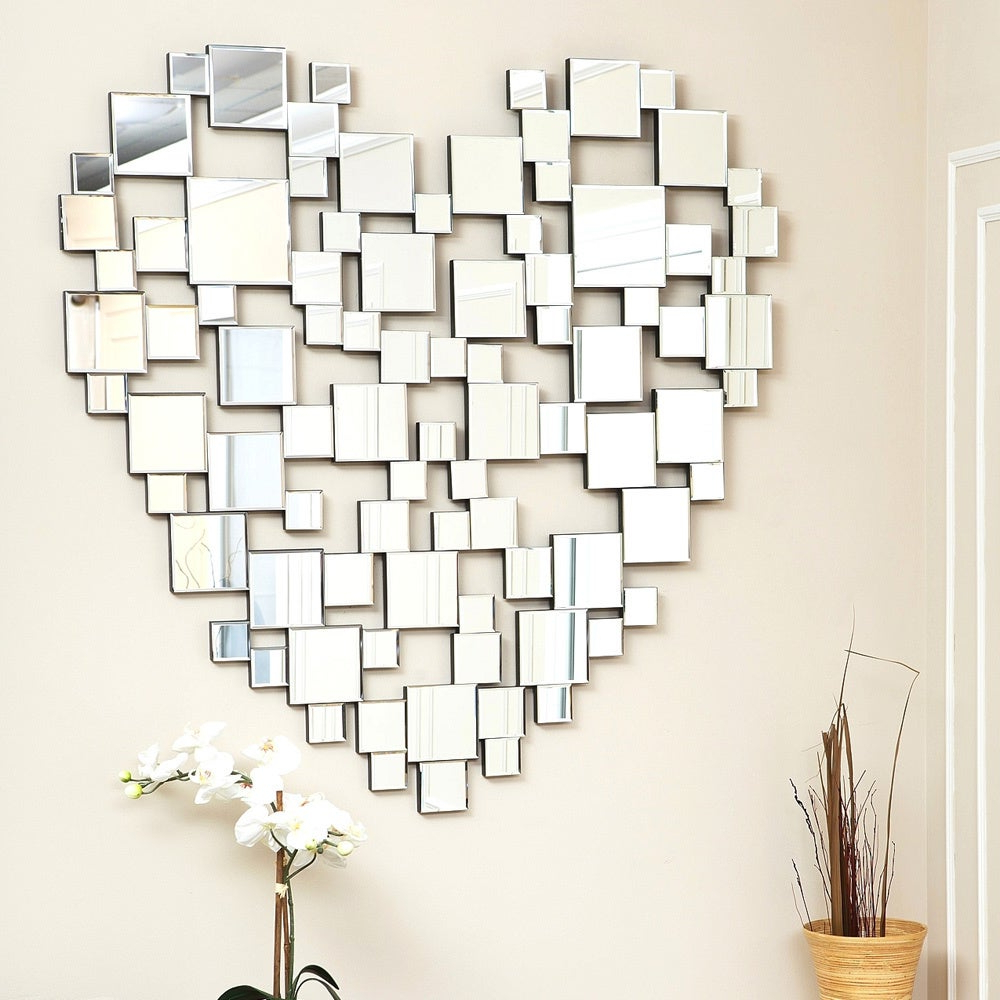 Fashionable Heart Shaped Wall Mirrors For Abbyson Heart Shaped Wall Mirror (View 15 of 20)