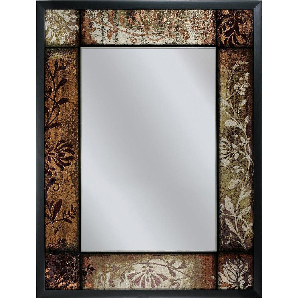 Fashionable Kristy Rectangular Beveled Vanity Mirrors In Distressed Regarding Deco Mirror 25 In. X 33 In (View 5 of 20)