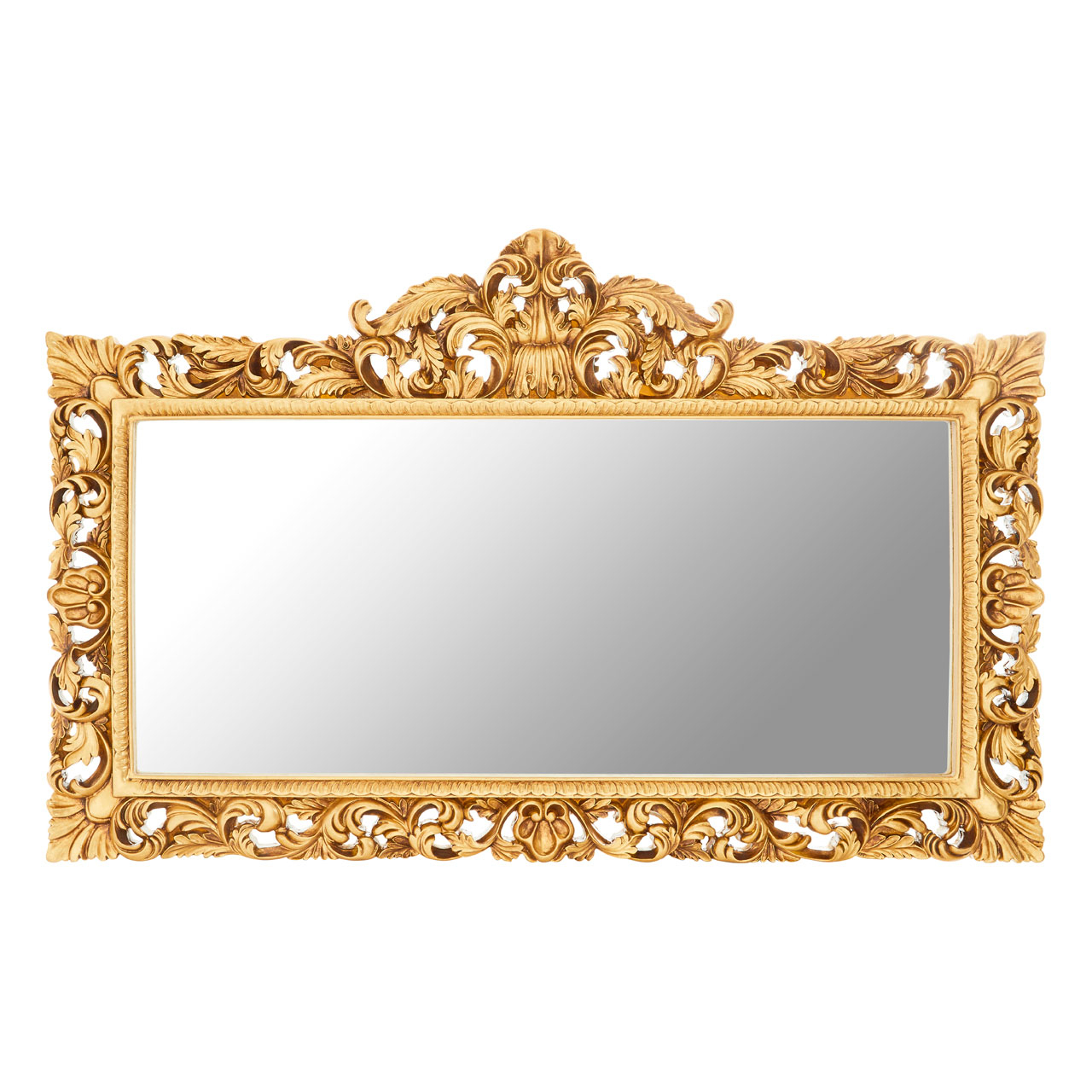 Fashionable Landscape Wall Mirrors Within Cannes Gold Landscape Wall Mirror (View 5 of 20)