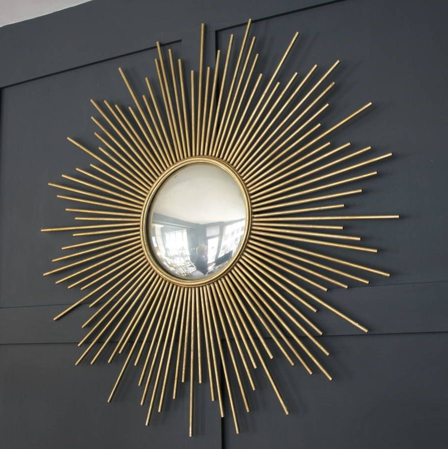 Fashionable Large Gold Wall Mirrors Within Large Gold Sunburst Wall Mirror (View 13 of 20)