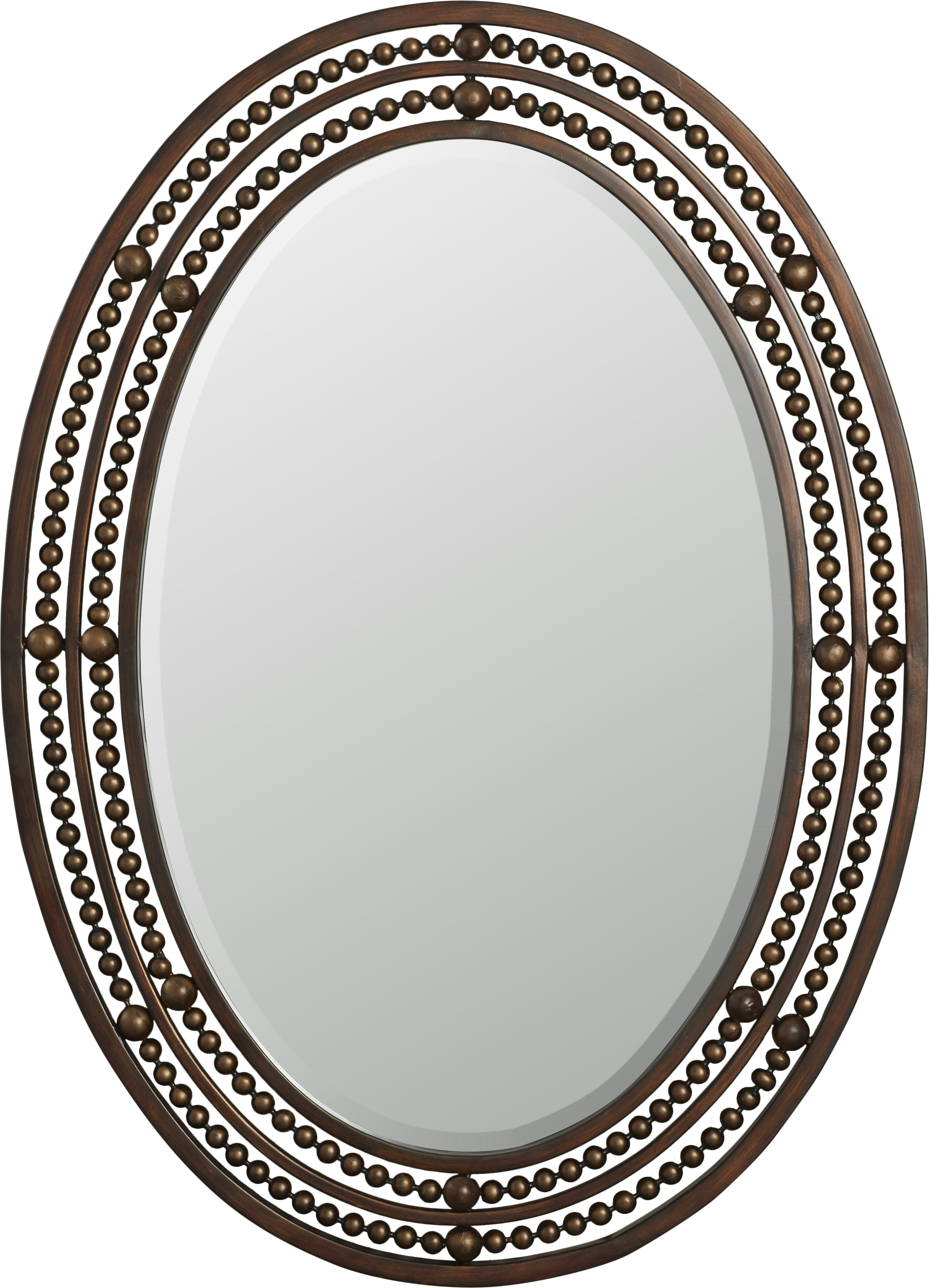 Fashionable Leeper Oval Wall Mirror Within Burnes Oval Traditional Wall Mirrors (View 5 of 20)