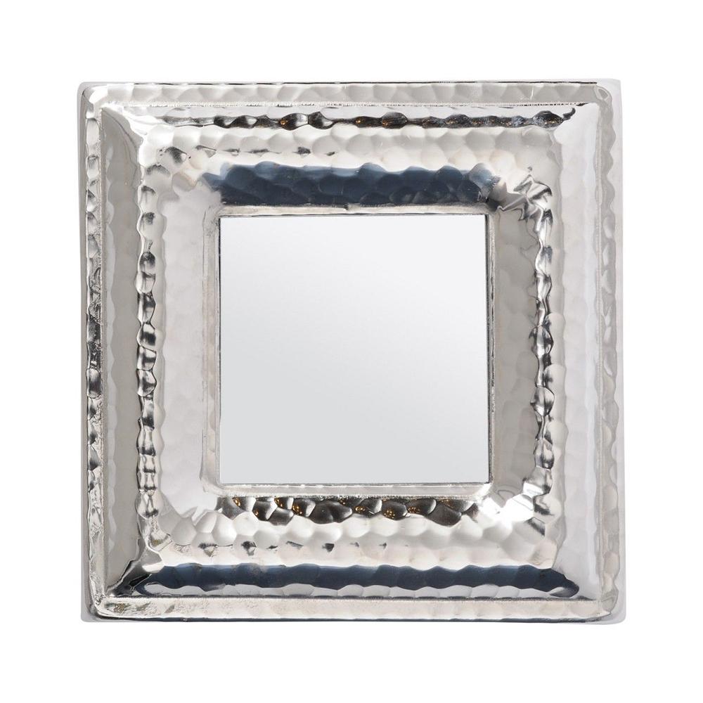 Fashionable Libra Luna Hammered Silver Aluminium Square Mini Mirror Inside Luna Accent Mirrors (View 10 of 20)