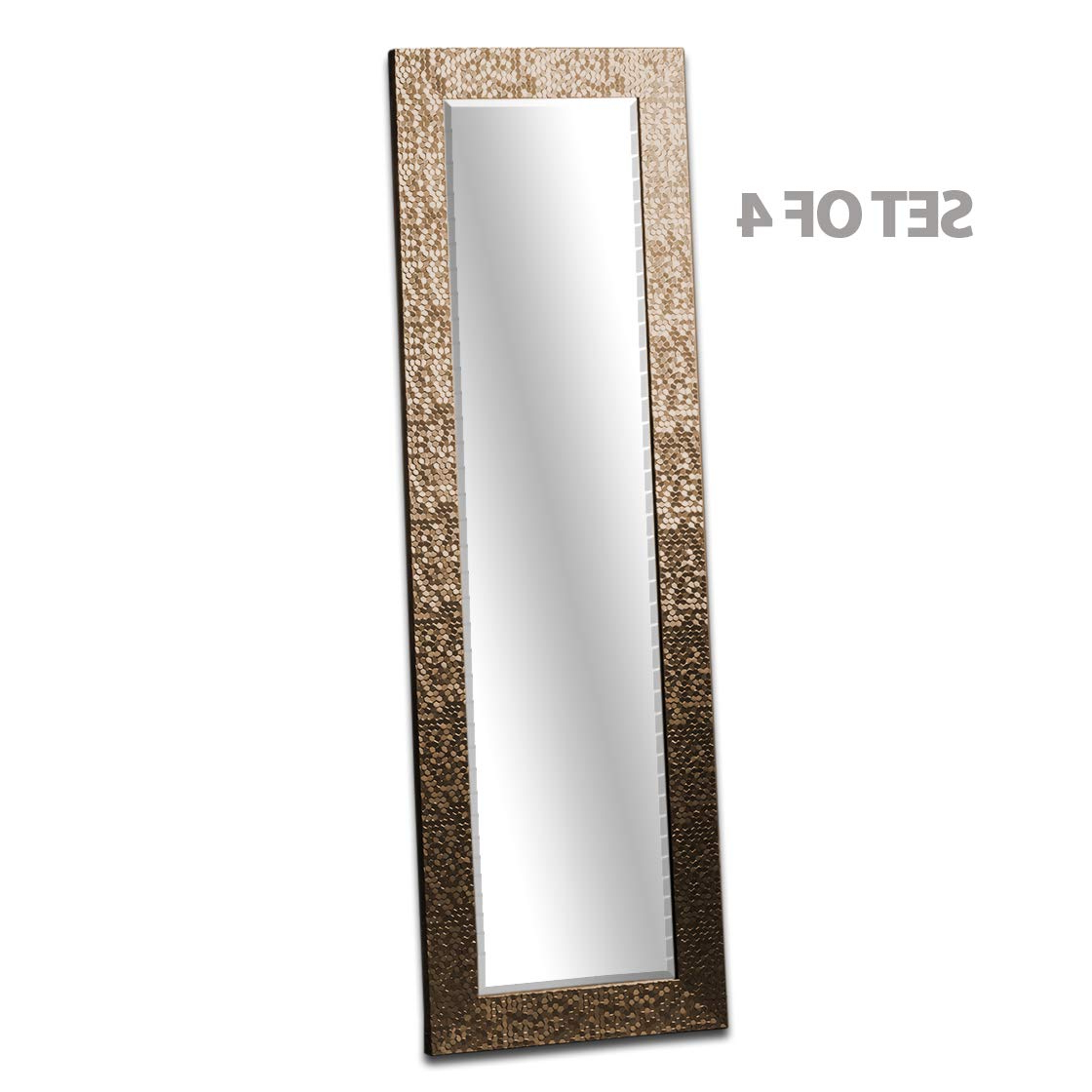 Fashionable Long Wall Mirrors With Regard To Barcelona Trading Kingsway Set Of 4 Gold Mosaic Frame Full Length (View 4 of 20)