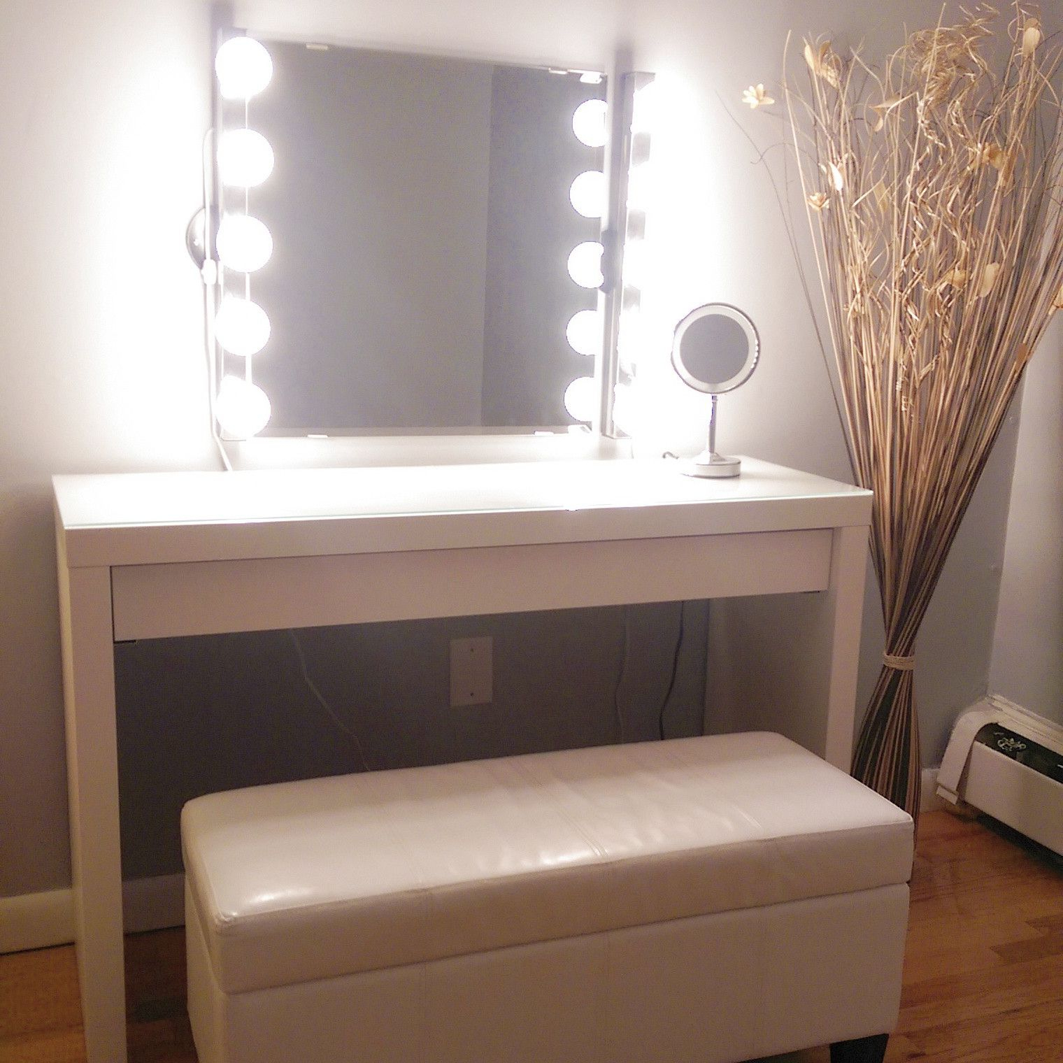 Fashionable Love The Bench, Wall Mirror Is Kolja Mirror From Ikea, Lights Are Intended For Ikea Wall Mirrors (View 5 of 20)