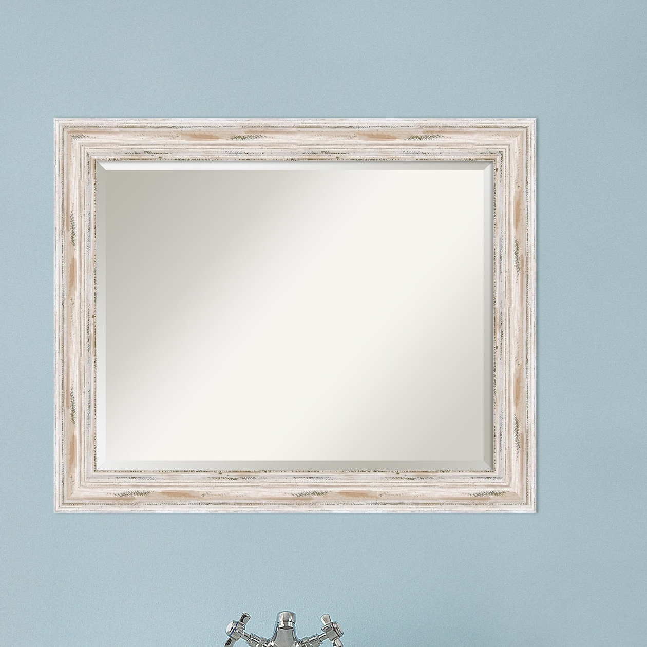 Fashionable Marion Beveled Distressed Bathroom Wall Mirror In Marion Wall Mirrors (View 7 of 20)