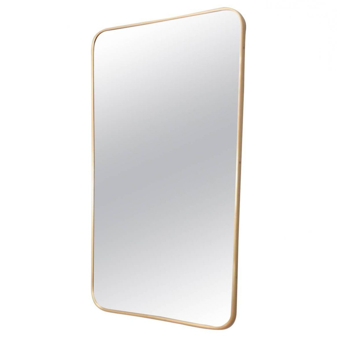 Fashionable Mid Century Wall Mirrors Intended For Italian Mid Century Wall Mirror With Brass Frame From Sant'ambrogio & De  Berti, 1950S (View 6 of 20)