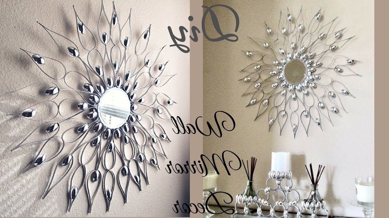 Fashionable Mini Wall Mirrors Regarding This Is A Diy Wall Mirror Decor That Is Quick And Easy To Make (View 7 of 20)