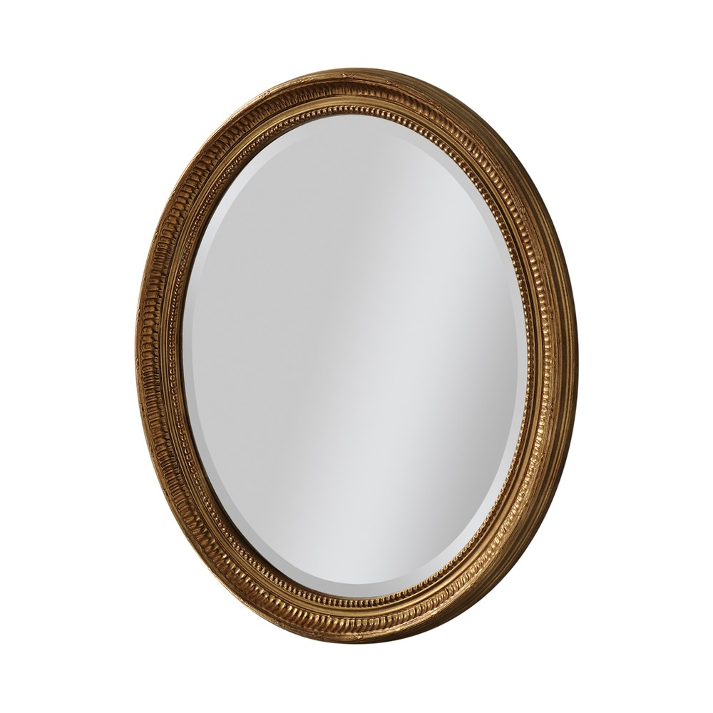 Fashionable Oval Wall Mirrors Throughout Beth Oval Wall Mirror – Gold (View 3 of 20)