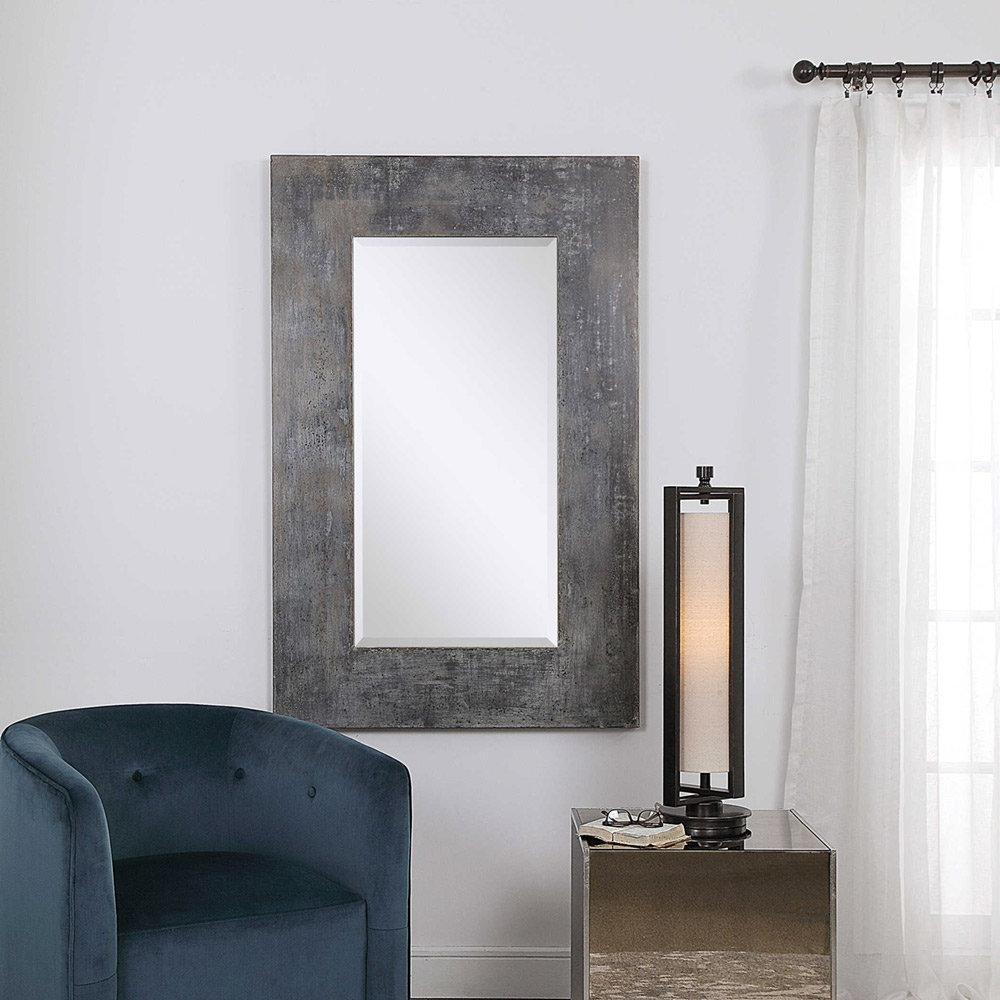 Fashionable Oversize Wall Mirrors Inside Rustic Oversize Jarrell Mirroruttermost 91cm X 142cm (View 16 of 20)