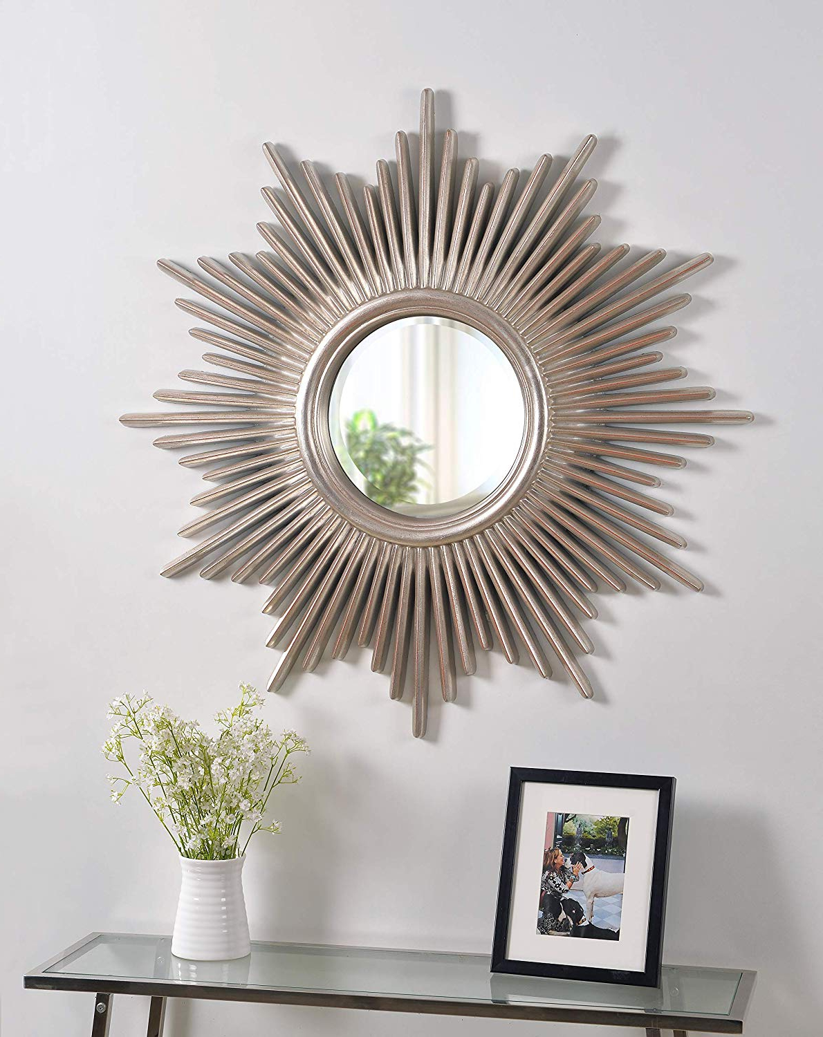 Fashionable Point Reyes Molten Round Wall Mirrors Intended For Kenroy Home Reyes Wall Mirror, 36 Inch Height, 36 Inch Diameter,  (View 6 of 20)