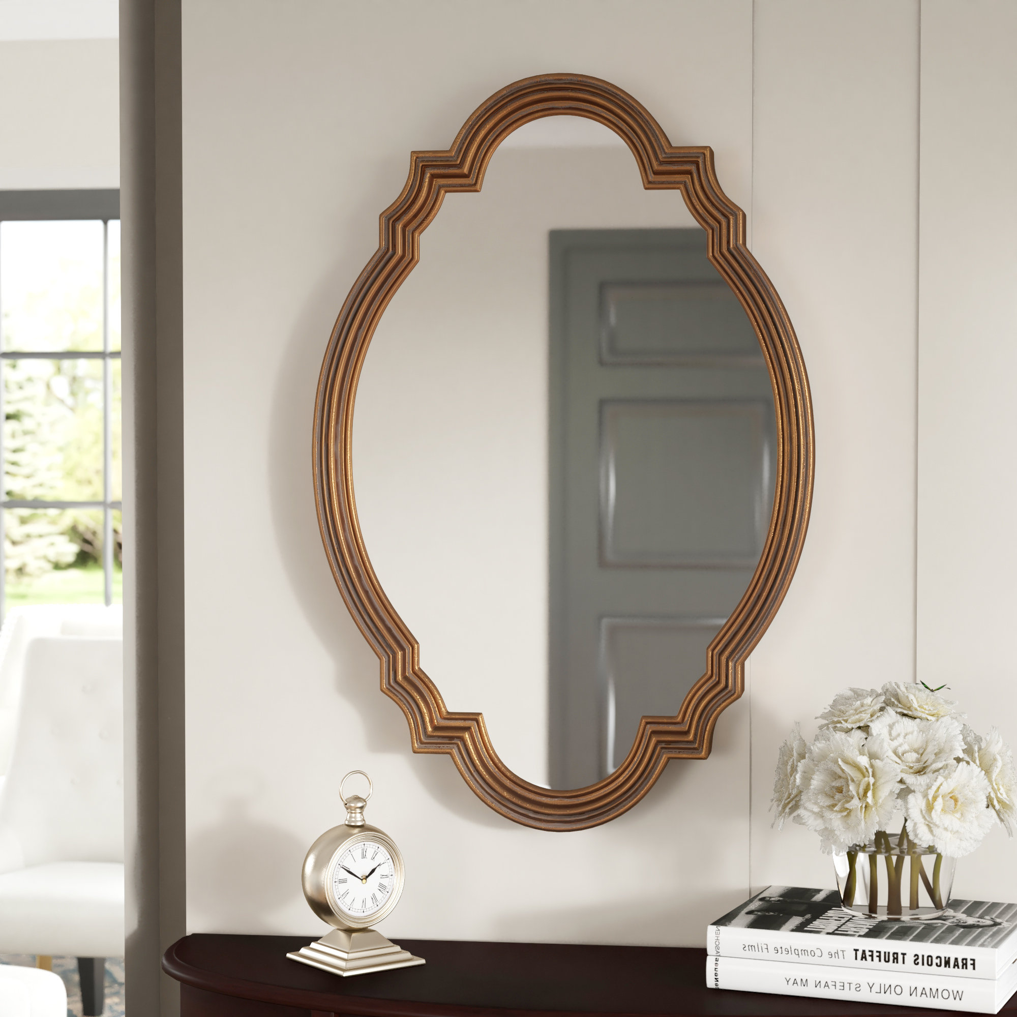 Fashionable Premium Wall Mirror Regarding Broadmeadow Glam Accent Wall Mirrors (View 11 of 20)