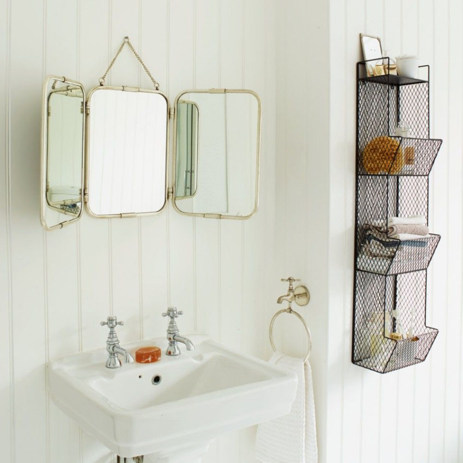 Fashionable Silver Tri Fold Carriage Mirror (Gallery 15 of 20)