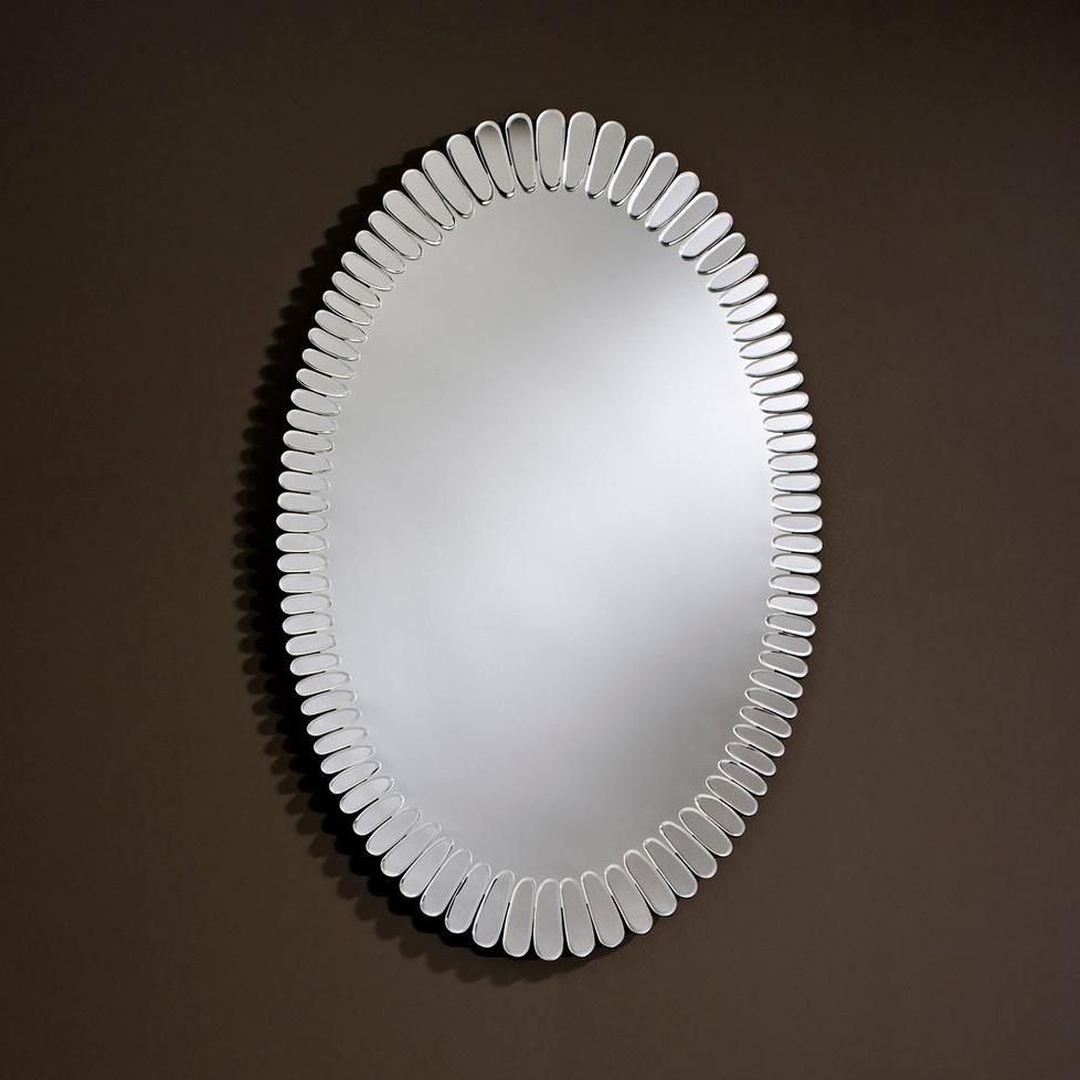 Fashionable Small Oval Wall Mirrors Pertaining To Wall Mirror Bloomdeknudt Mirrors (View 9 of 20)