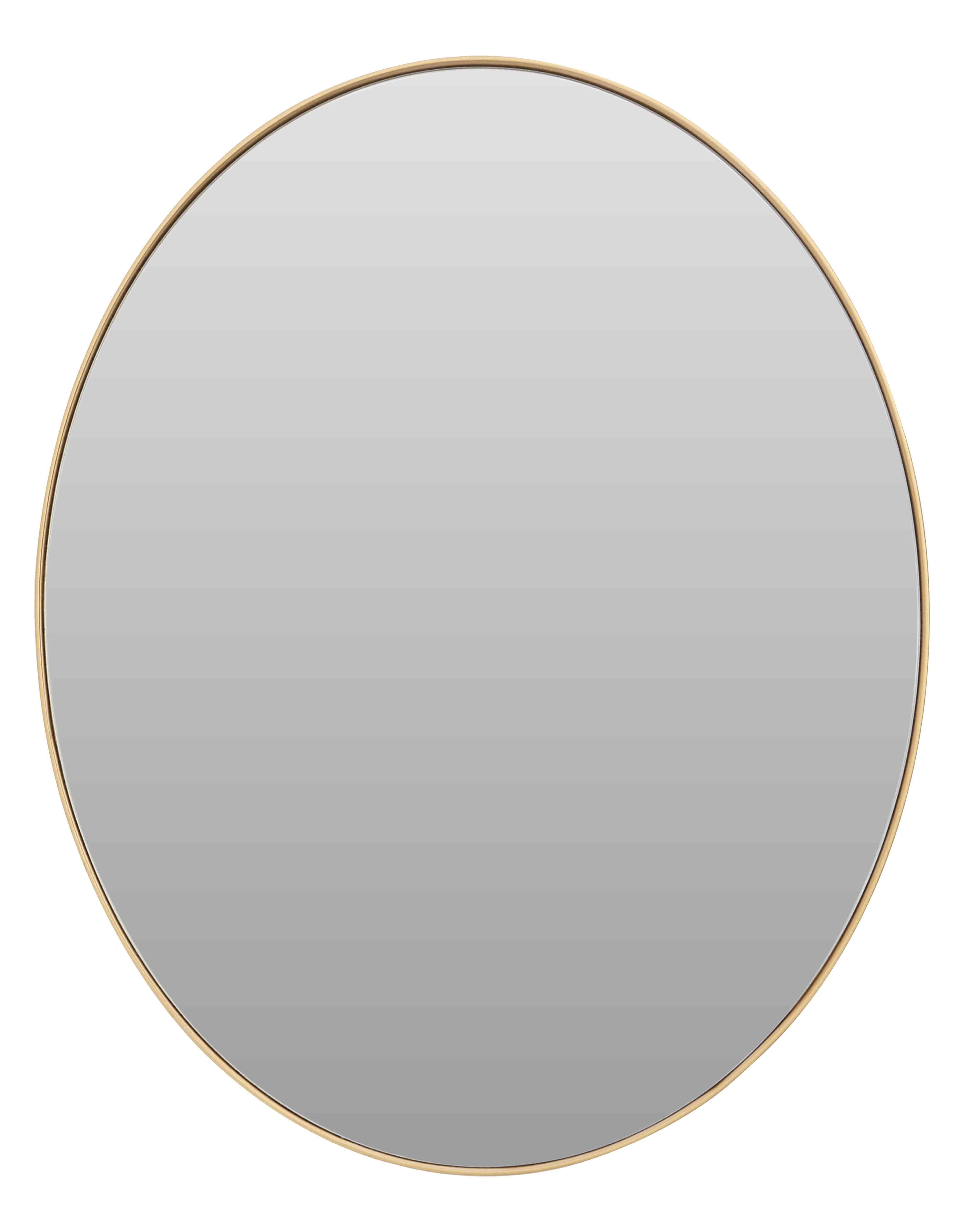 Fashionable Small Oval Wall Mirrors Within Gold Finish Oval Wall Mirrorfifty Five South In Wall Mirrors (View 18 of 20)