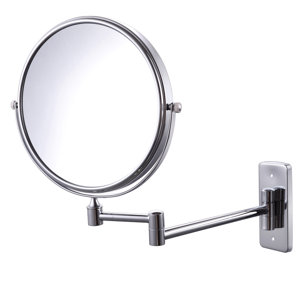 Fashionable Swivel Wall Mirrors With Regard To Kes Bwm100Te 10X Magnification Two Sided Swivel Wall Mount (Gallery 14 of 20)