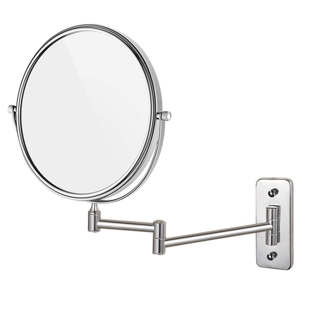 Fashionable Tri Fold Bathroom Wall Mirrors Intended For Amazon: Folding Mirror Bathroom Mirror Wall Mounted (Gallery 19 of 20)