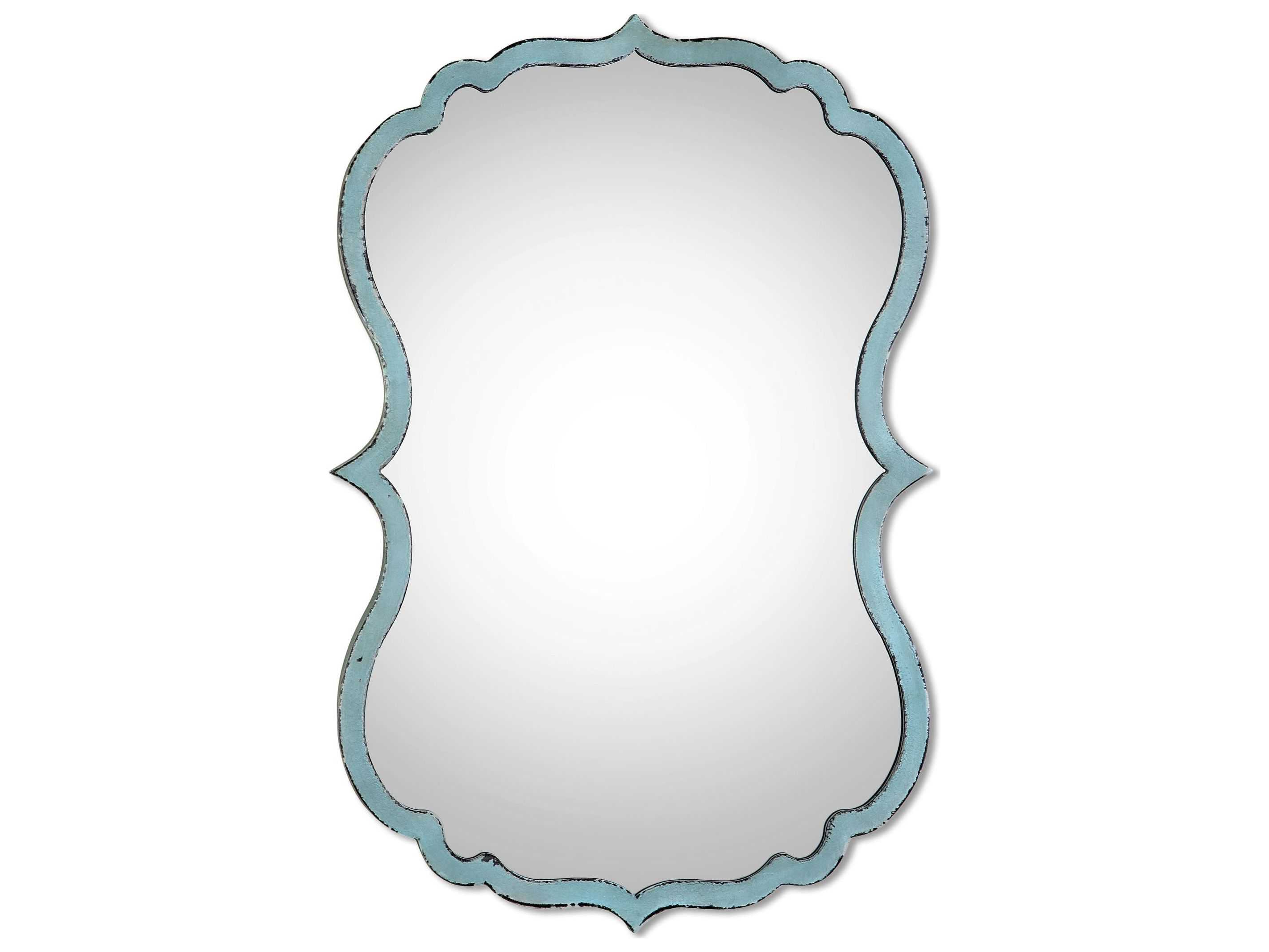 Fashionable Uttermost Nicola 18 X 27 Light Blue Wall Mirror Regarding Talida Wall Mirrors (View 13 of 20)