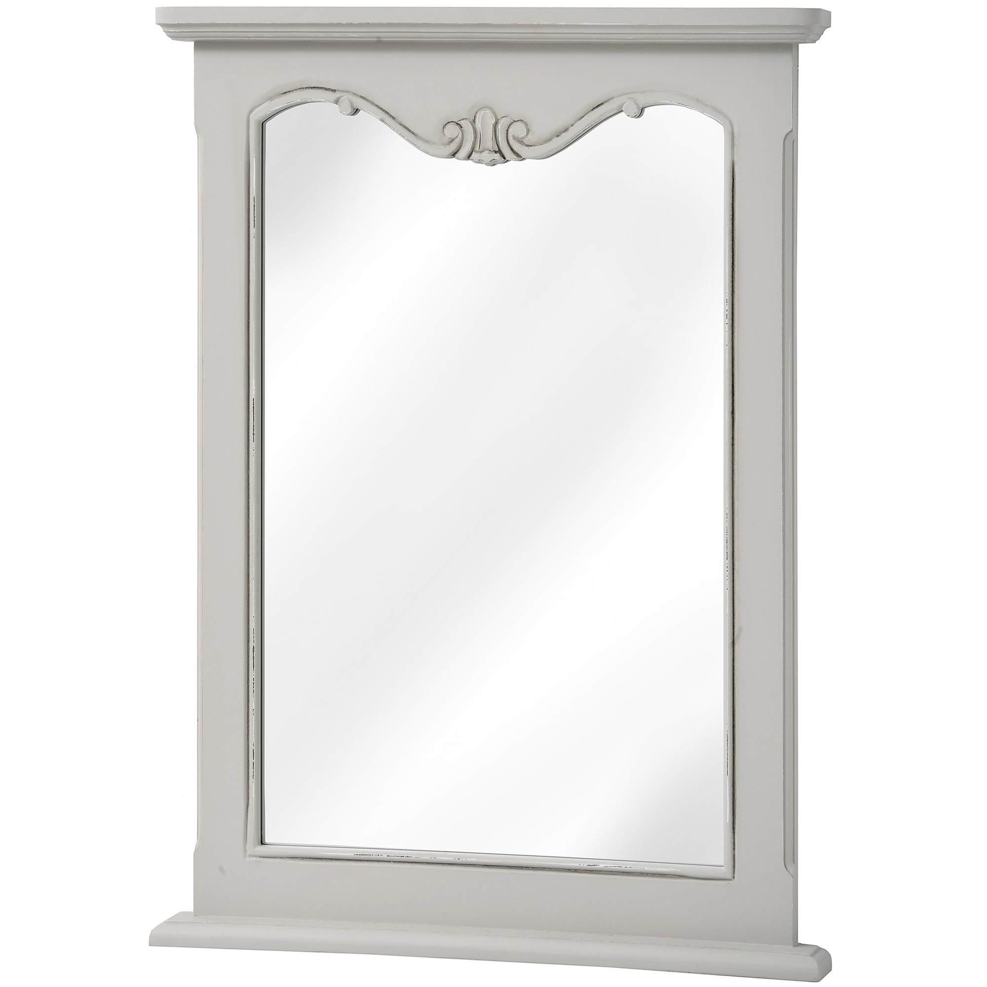 Fashionable White Shabby Chic Wall Mirrors With Regard To Fleur Shabby Chic Wall Mirror (Gallery 16 of 20)