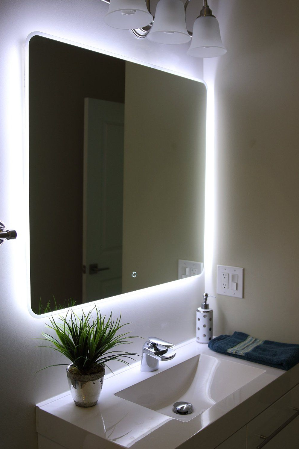 Fashionable Windbay Backlit Led Light Bathroom Vanity Sink Mirror (View 7 of 20)