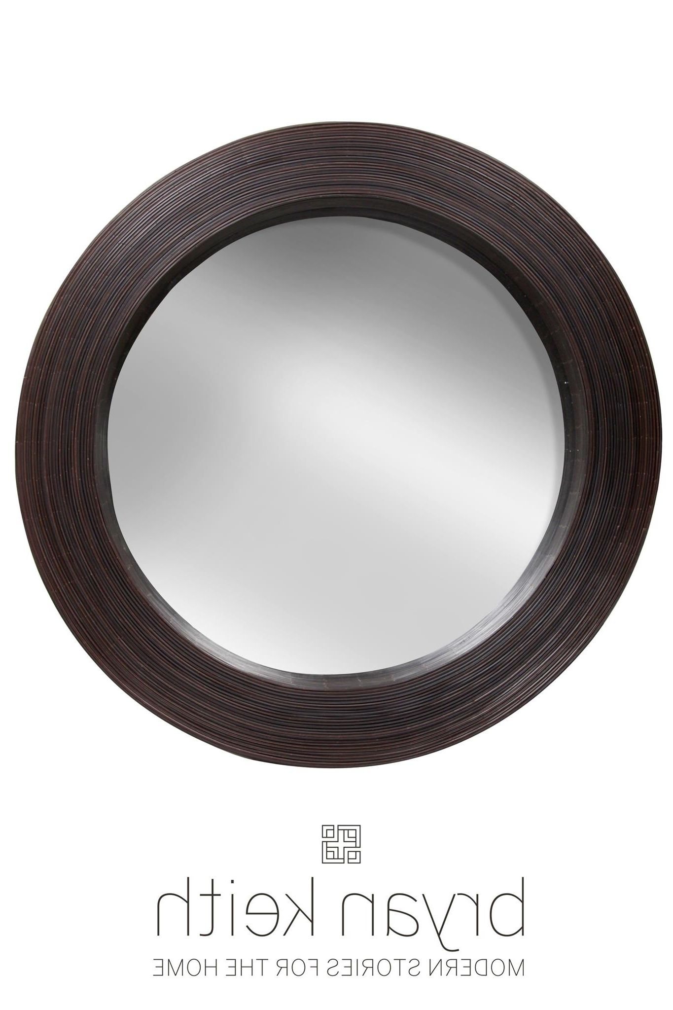 Fashionable Wood And Rattan Round Wall Mirror Intended For Black Round Wall Mirrors (View 9 of 20)