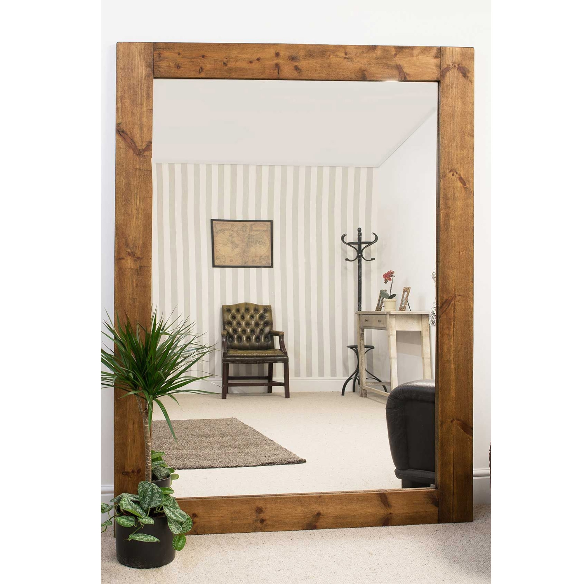 Fashionable Wooden Wall Mirrors With Large Wooden Wall Mirror (Gallery 1 of 20)