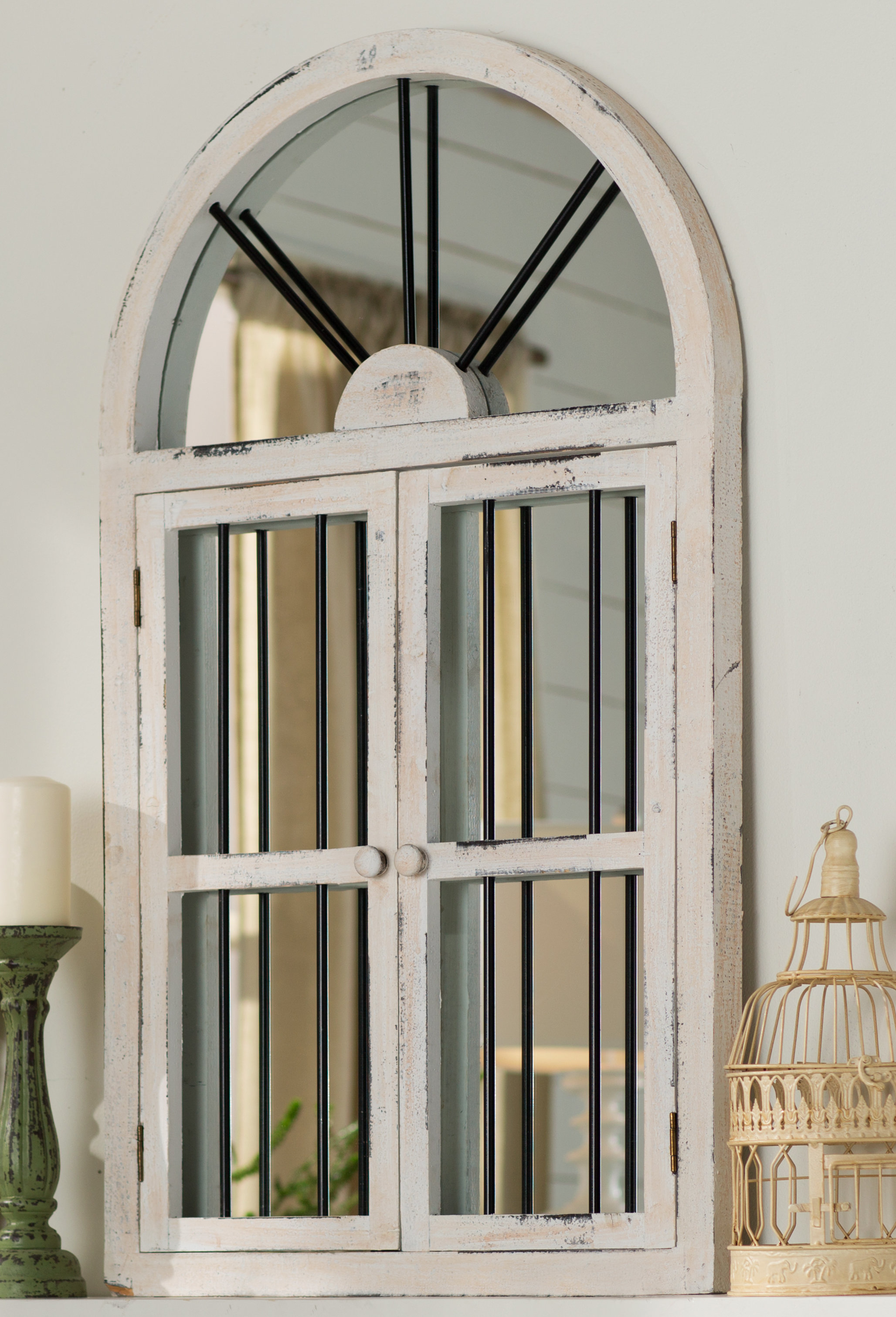 Faux Window Wood Wall Mirror In Popular Wood Wall Mirrors (View 4 of 20)