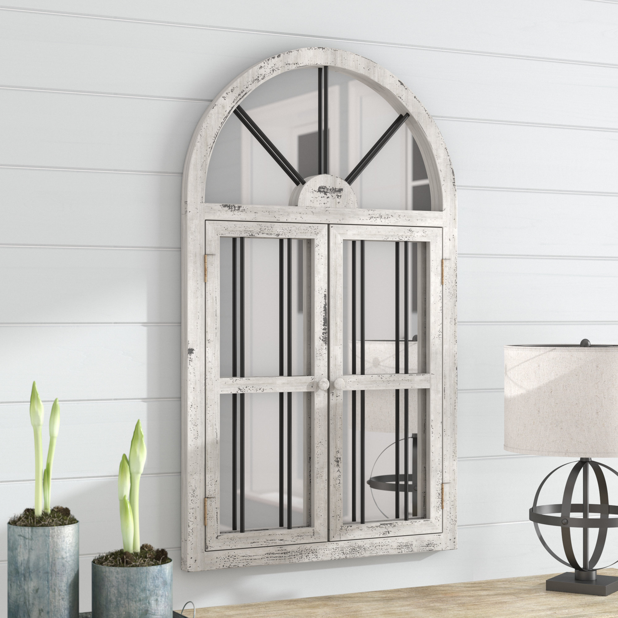 Faux Window Wood Wall Mirror Pertaining To Current 2 Piece Kissena Window Pane Accent Mirror Sets (View 11 of 20)