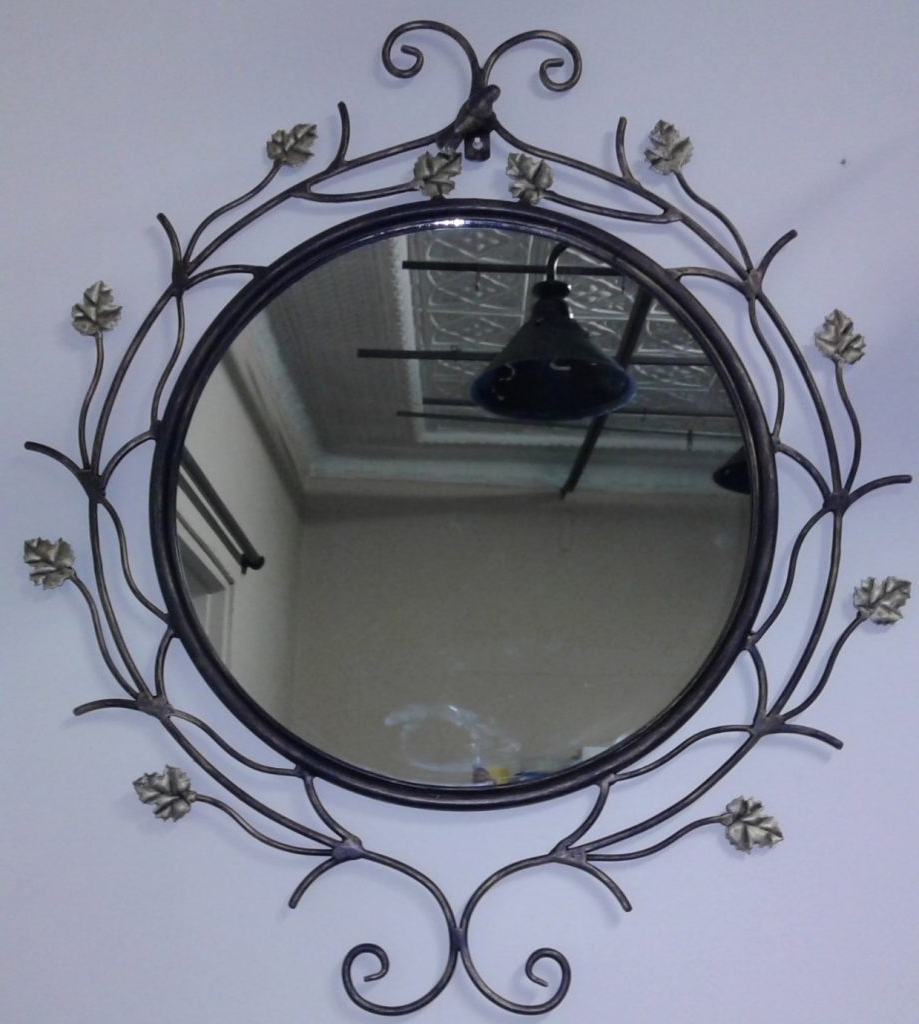 Favorite 56 Wrought Iron Mirror, Large Industrial Heavy Wrought Iron Regarding Wrought Iron Wall Mirrors (View 7 of 20)
