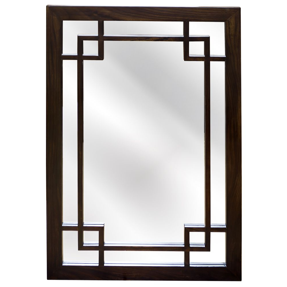 Favorite Asian Inspired Wall Mirrors Inside Elmwood Window Style Mirror In (View 16 of 20)