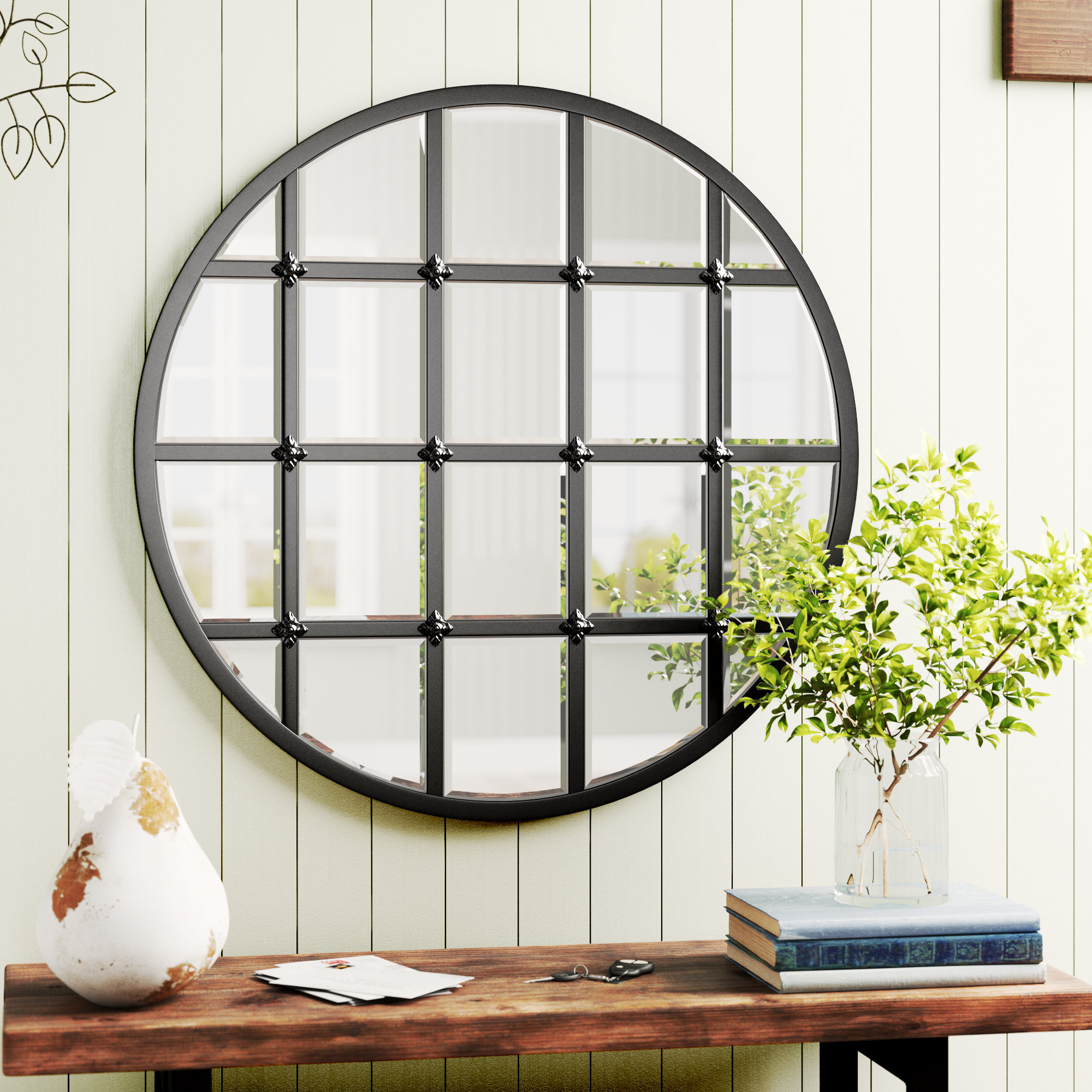Favorite Birch Lane™ Heritage Wells Traditional Accent Mirror Regarding Yatendra Cottage/country Beveled Accent Mirrors (View 9 of 20)