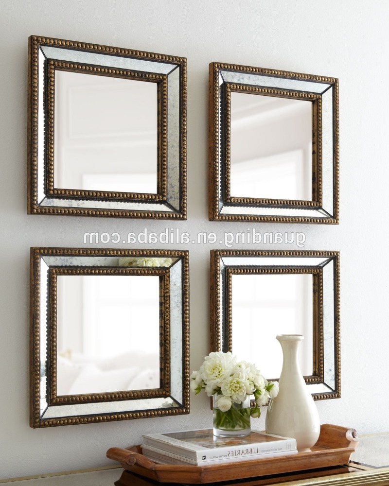 Favorite Caja Rectangle Glass Frame Wall Mirrors For Beaded Square Home Decor Wall Tray Mirror, View Wall Mirror , Guanding  Product Details From Dongguan Guanding Furniture Craft Factory On  Alibaba (View 16 of 20)