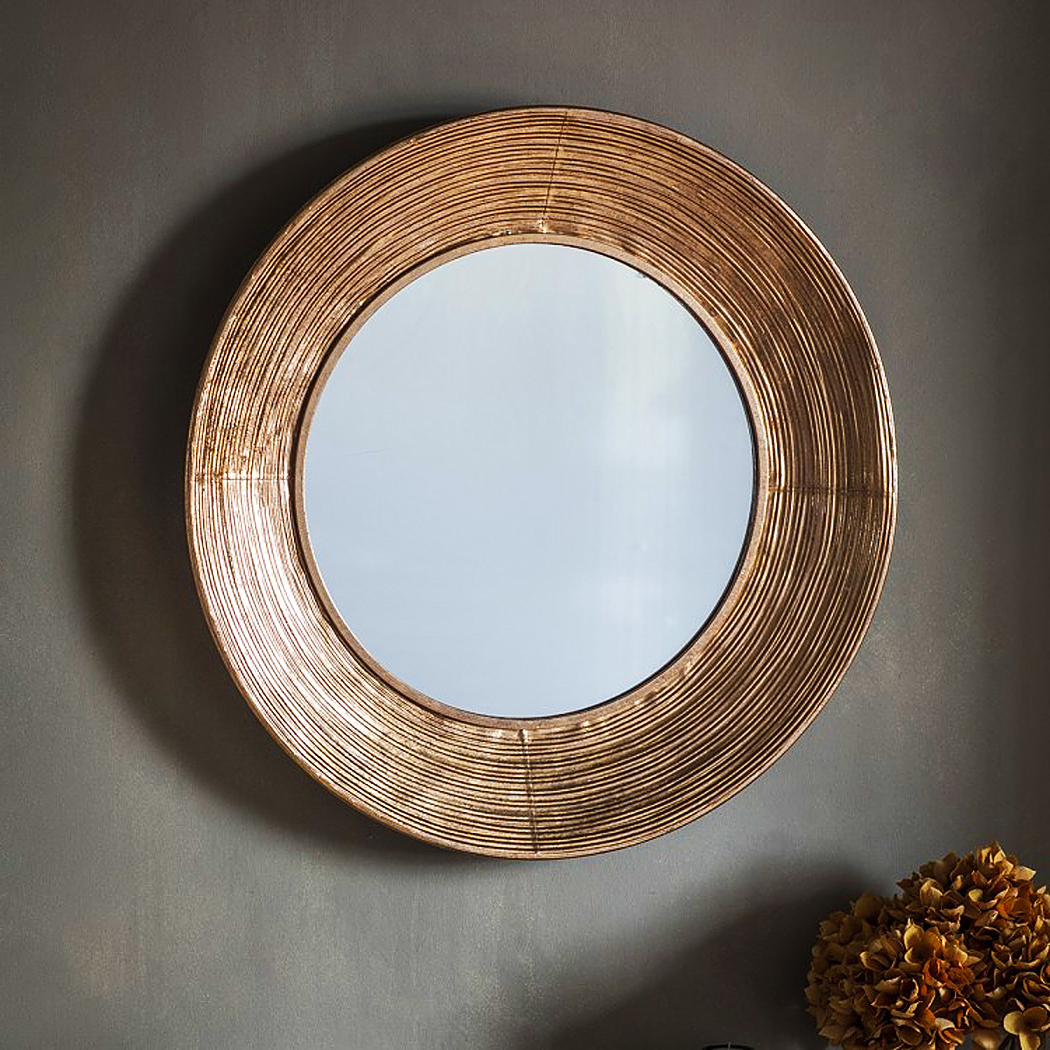 Favorite Copper Wall Mirrors In Round Copper Wall Mirror (View 17 of 20)