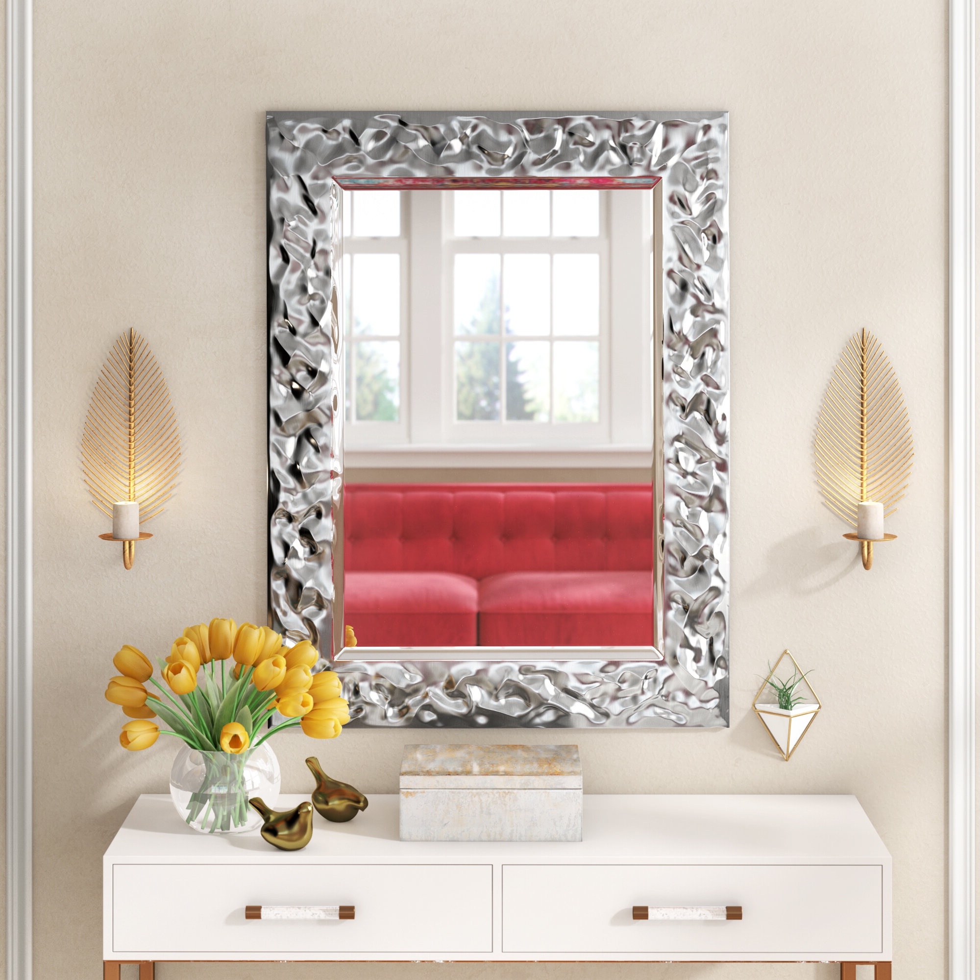 Favorite Dennet Modern & Contemporary Glam Rectangle Wall Mirror For Modern Rectangle Wall Mirrors (View 19 of 20)