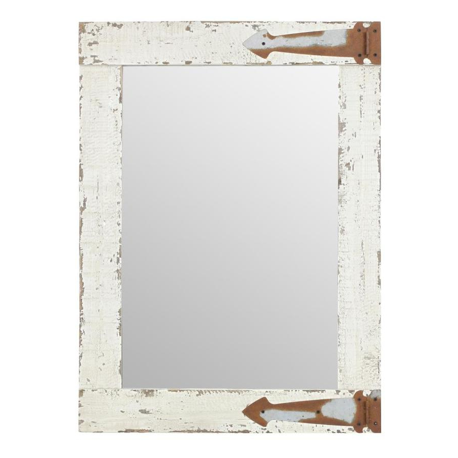 Favorite Distressed White Wall Mirrors With Regard To Aspire Home Accents Serenad 30 In L X 22 In W Distressed (View 10 of 20)