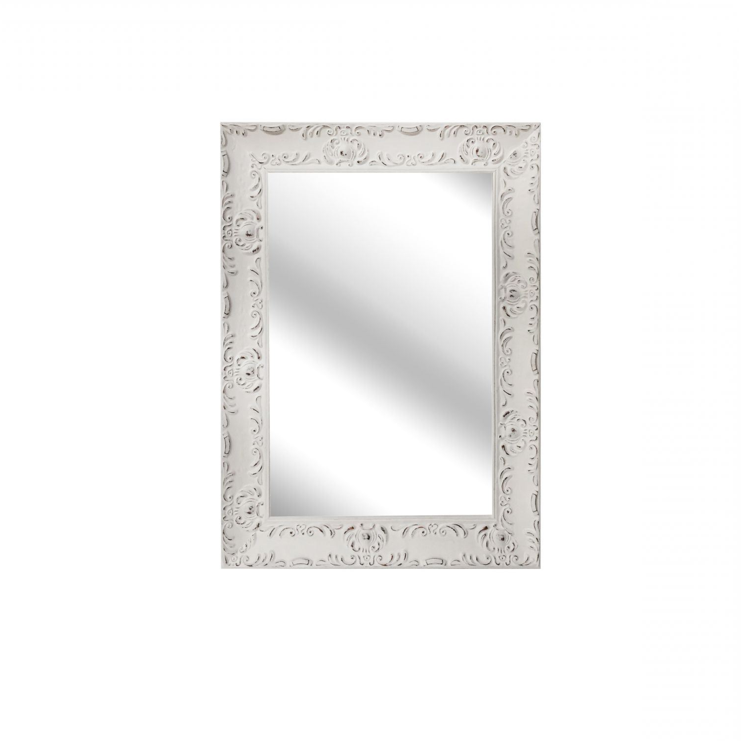 Favorite Distressed White Wall Mirrors With Regard To White Distressed Wall Mirror (View 4 of 20)