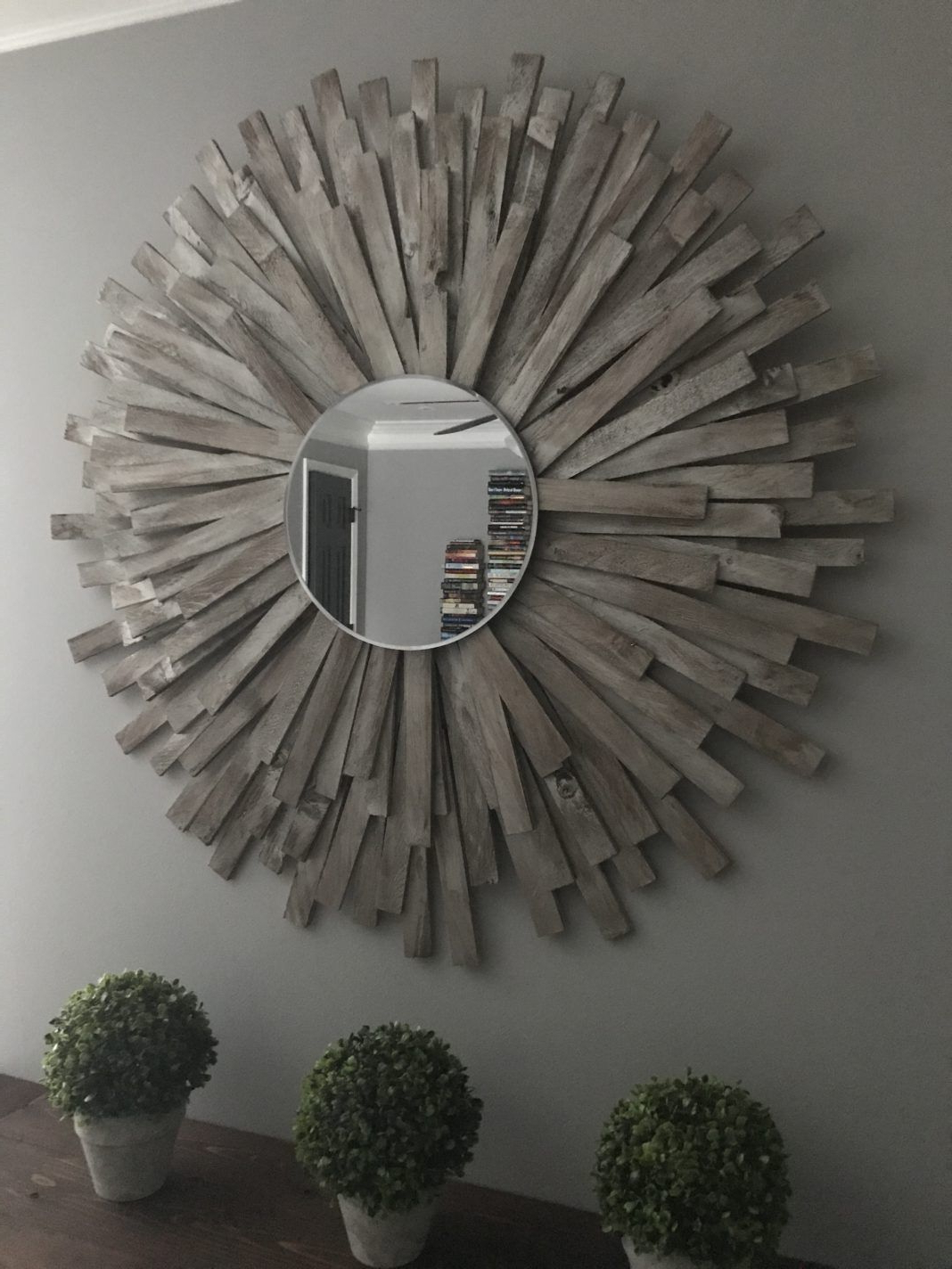 Favorite Diy Large Wall Mirror Throughout Sunburst Mirror Diy Cheap And Creative Wall Art With Wood Shims (View 9 of 20)