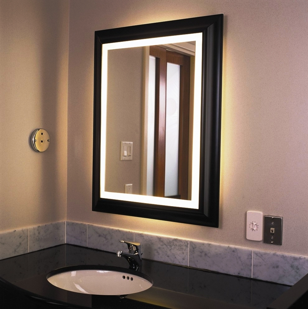 Favorite Fancy Bathroom Wall Mirrors Pertaining To Lighted Bathroom Wall Mirror For Any Bathroom Styles – Home Design (View 16 of 20)