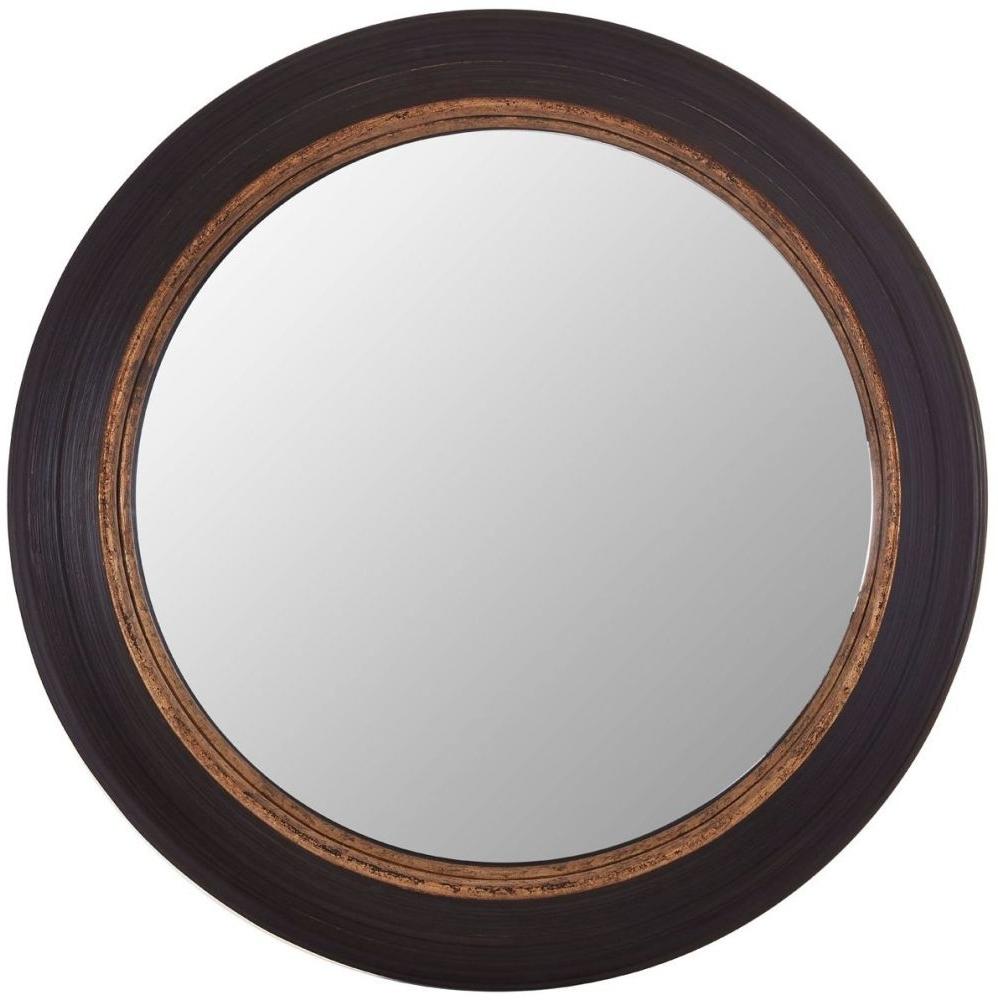 Favorite Gwen Black Round Wall Mirror With Black Round Wall Mirrors (View 12 of 20)
