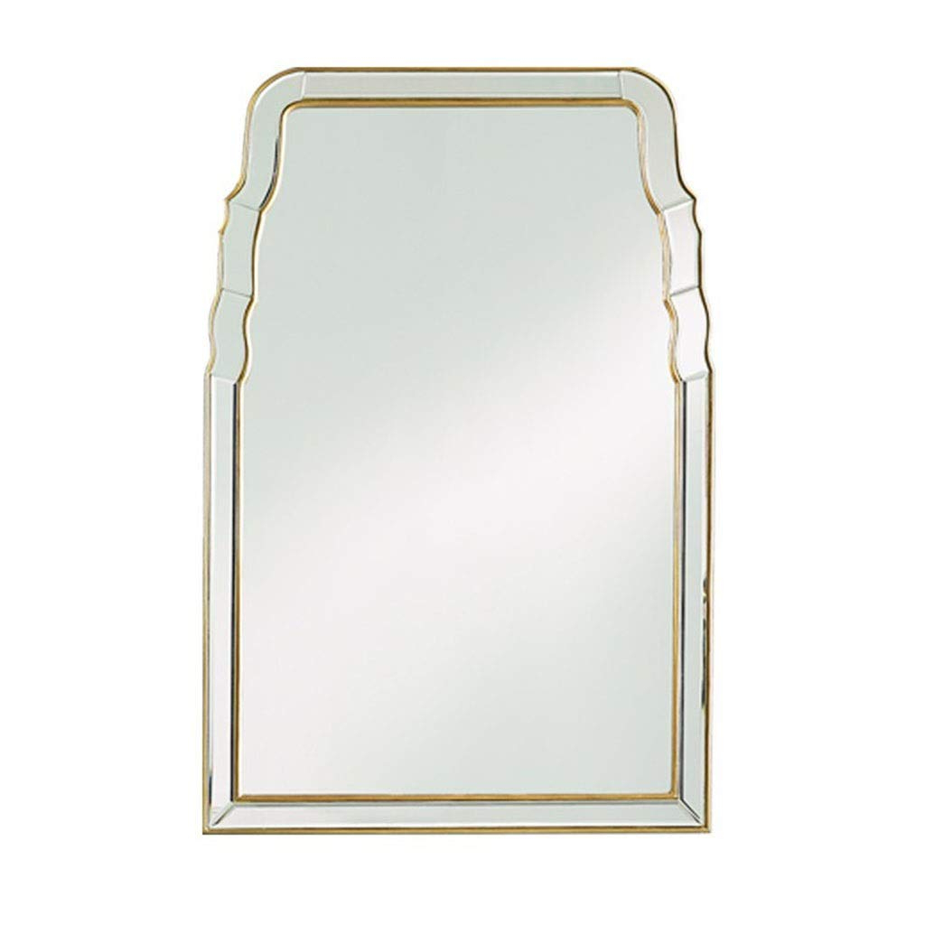 Favorite High End Wall Mirrors For Amazon: Bathroom Mirrors Hanging Mirror On The Wall Antique Gold (View 7 of 20)