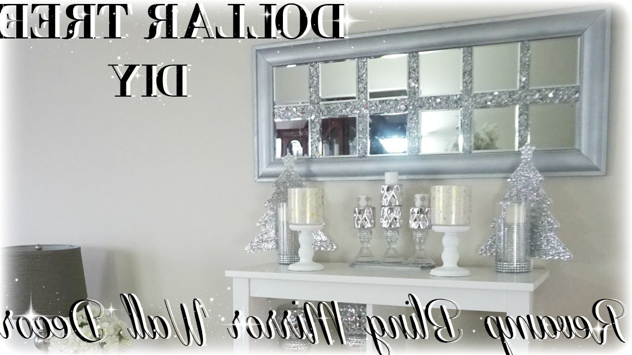 Favorite Home Wall Mirrors Inside Diy Bling Revamp Mirror Wall Decor (View 17 of 20)