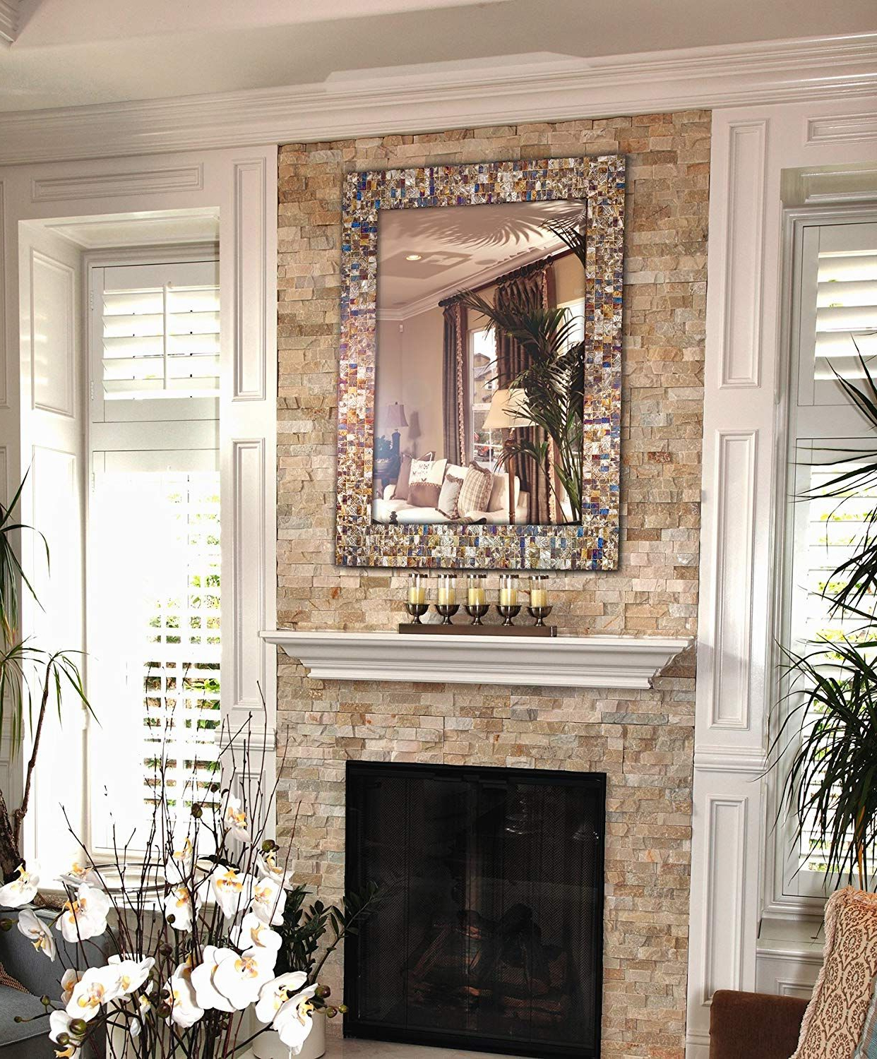 """Favorite Horizontal Decorative Wall Mirrors Regarding 30"""" X 24"""" Rectangular Decorative Wall Mirror, Wall Mount Vertical Or (View 17 of 20)"""