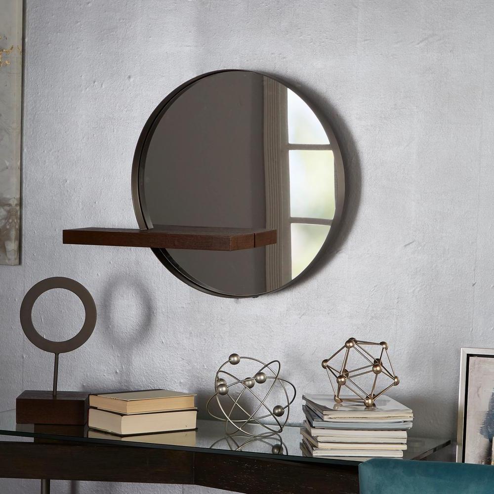 Favorite Industrial Modern & Contemporary Wall Mirrors Inside Bird Mirror Contemporary Decor Shelf Set Patterns Rectangular Art (View 18 of 20)