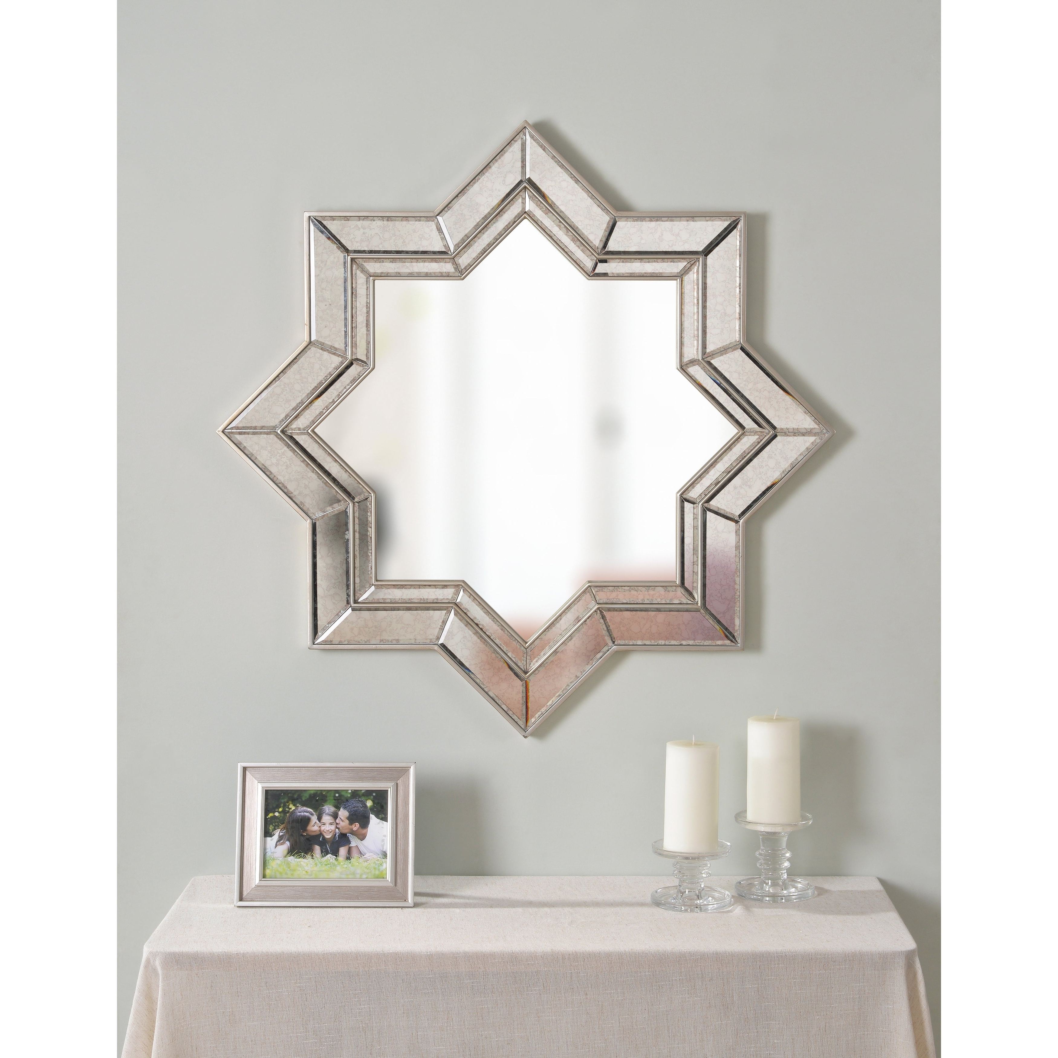 "Favorite Kai 35"" Champagne Geometric Wall Mirror Intended For Geometric Wall Mirrors (View 17 of 20)"