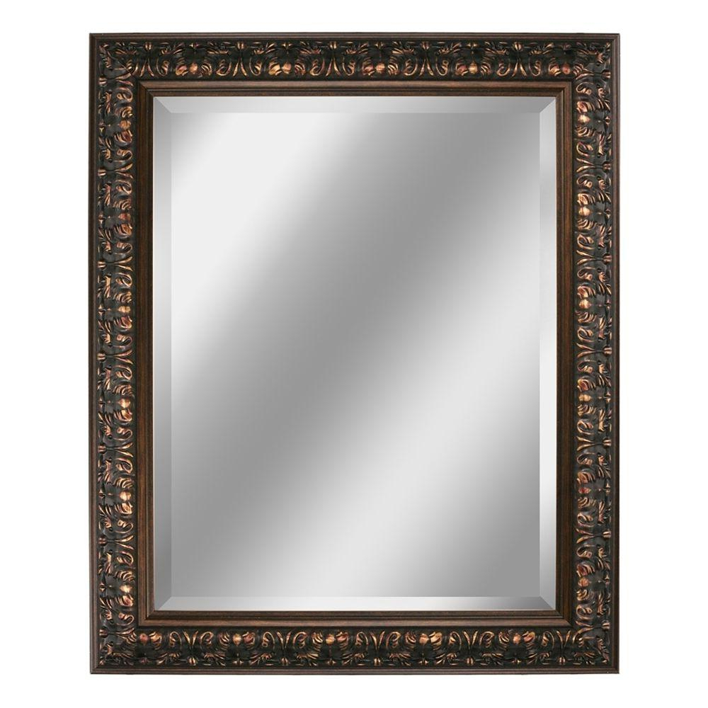Favorite Leather Framed Wall Mirrors In Deco Mirror 29 In. X 35 In (View 5 of 20)