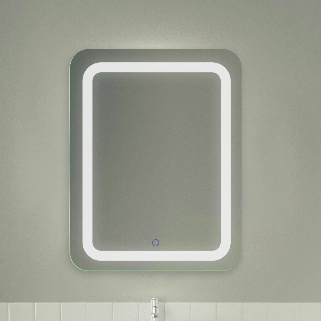Favorite Lighted Vanity Wall Mirrors Pertaining To Ridlon Tri Color Led Wall Mounted Lighted Vanity Mirror (View 10 of 20)